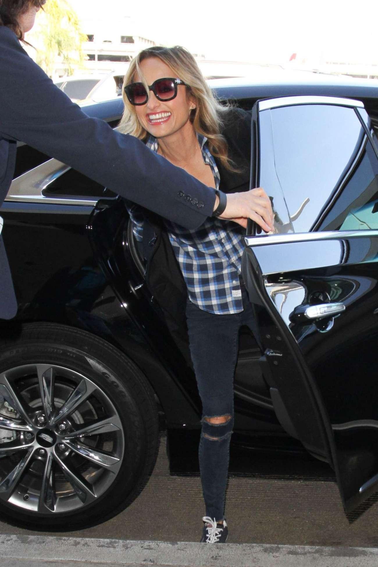 Giada De Laurentiis Arriving at LAX Airport in Los Angeles