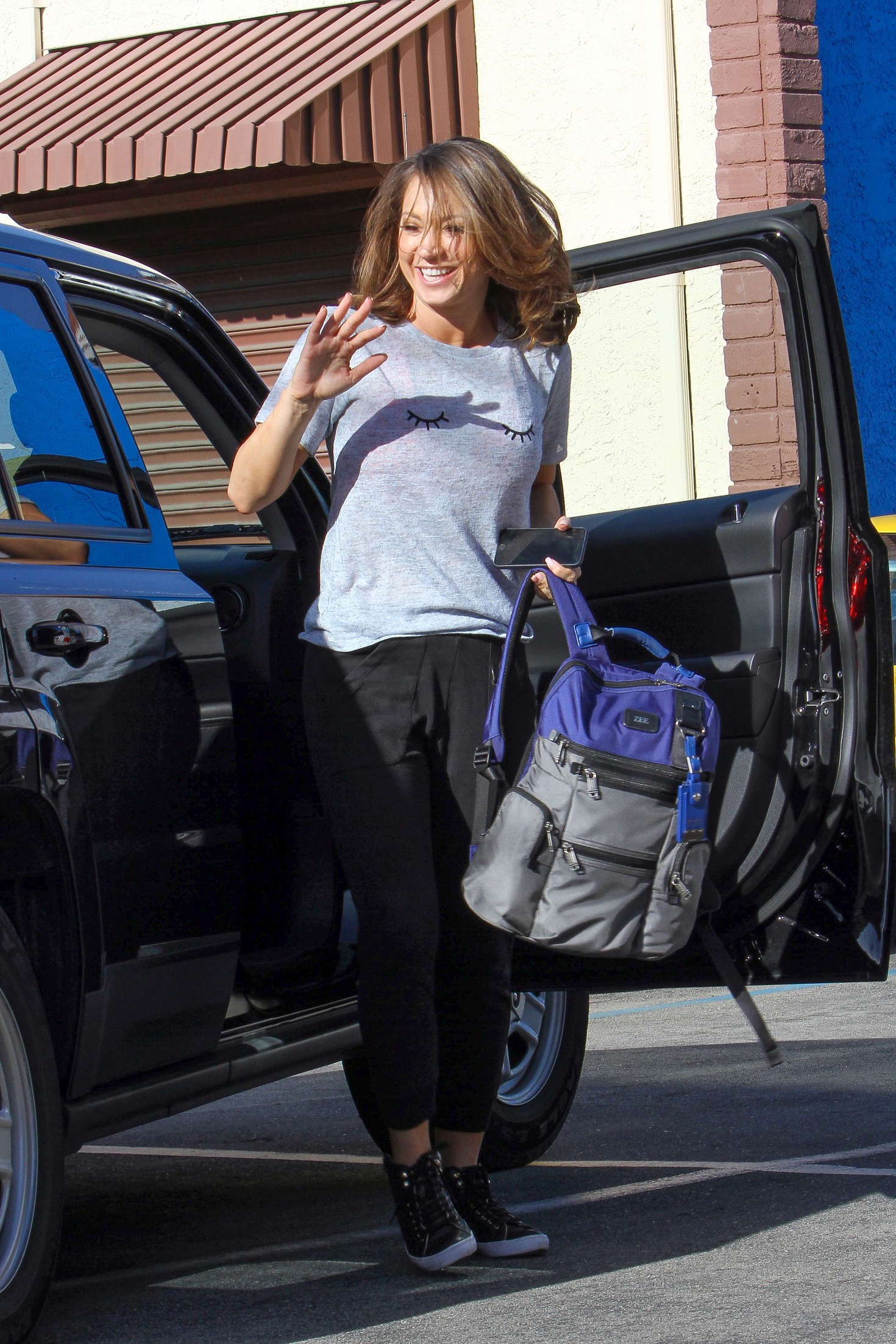 Ginger Zee at Dancing With the Stars Practice in Hollywood