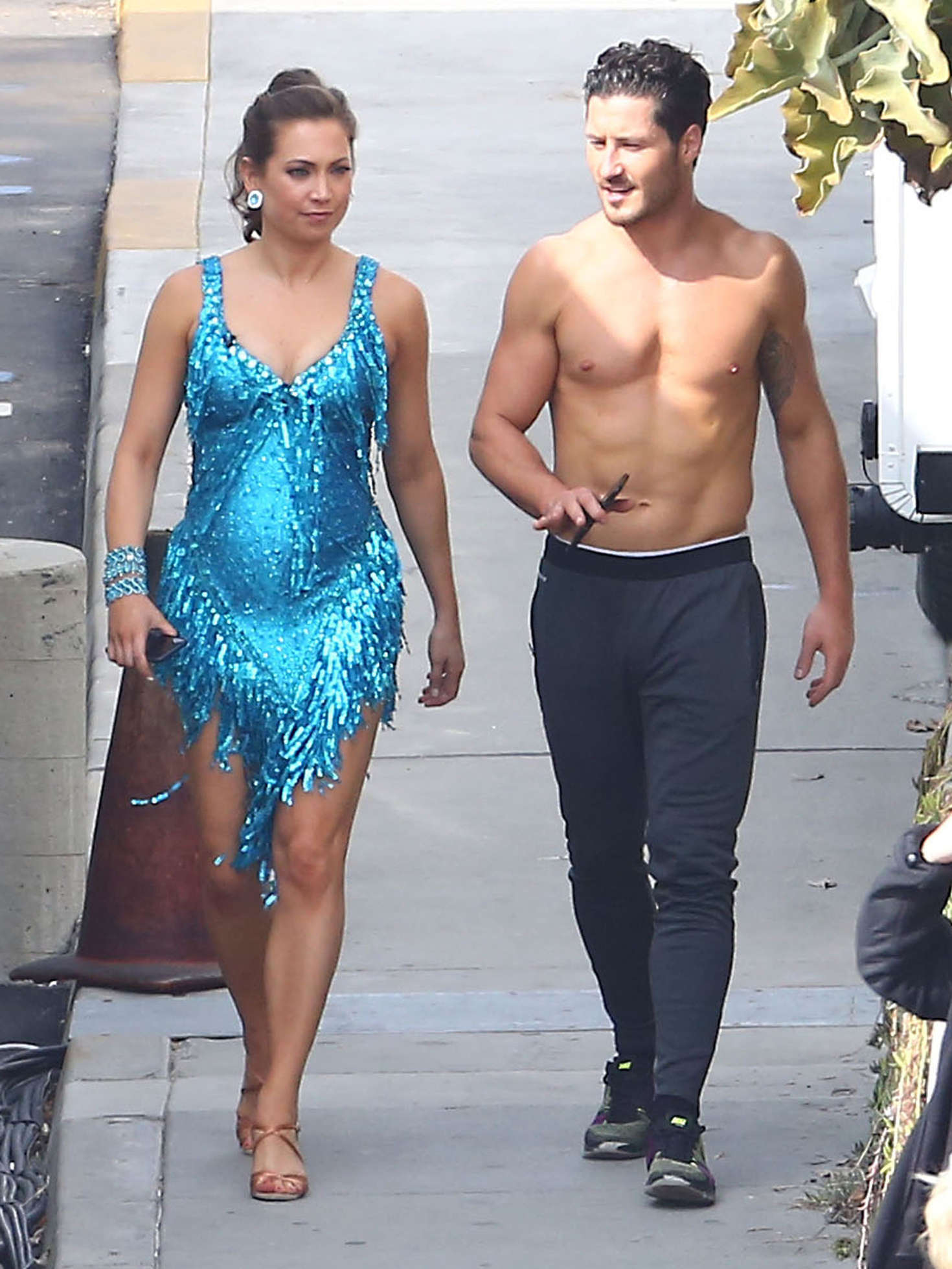 Ginger Zee at Dancing With The Stars Taping in Hollywood