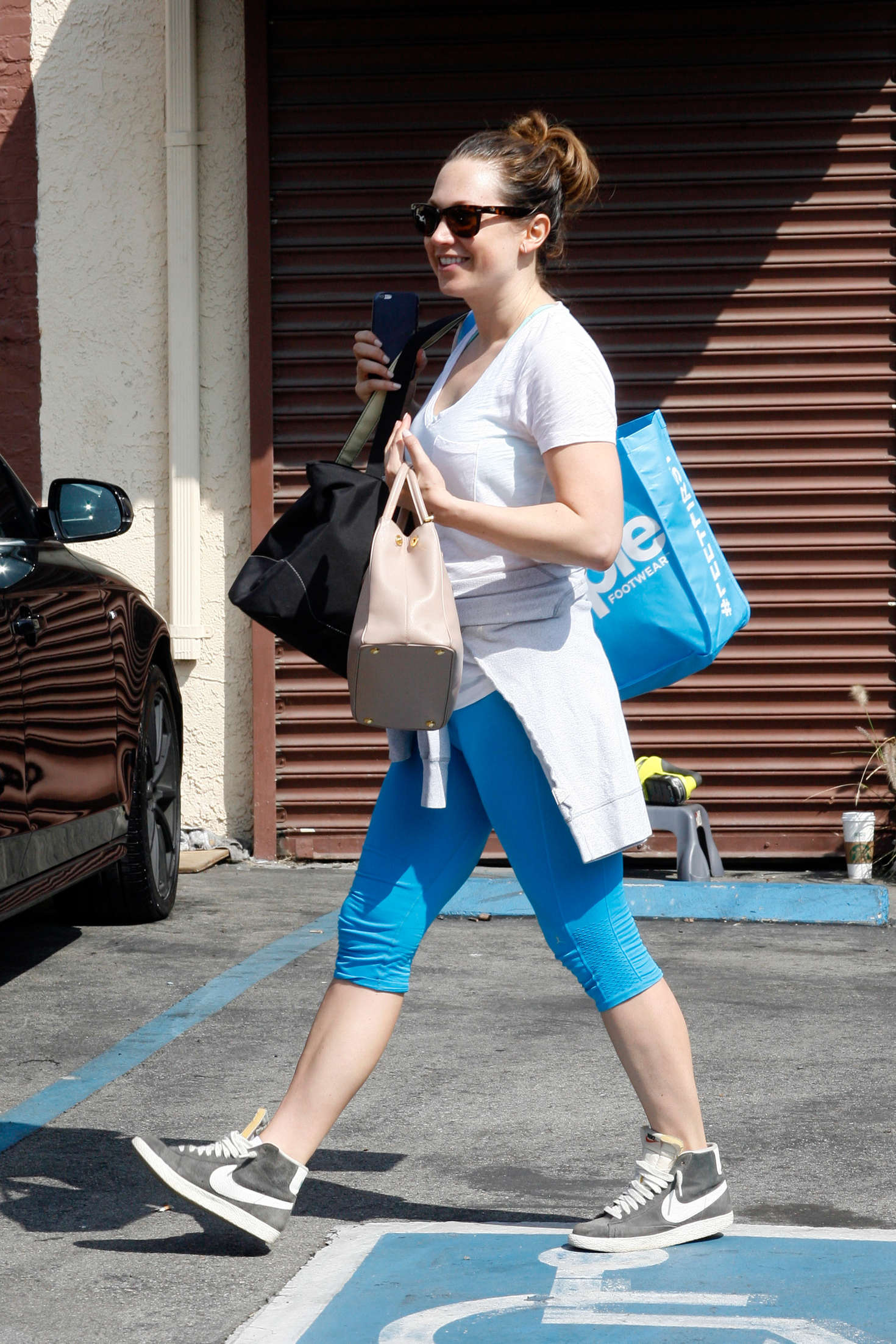 Ginger Zee at DWTS Practice in Hollywood