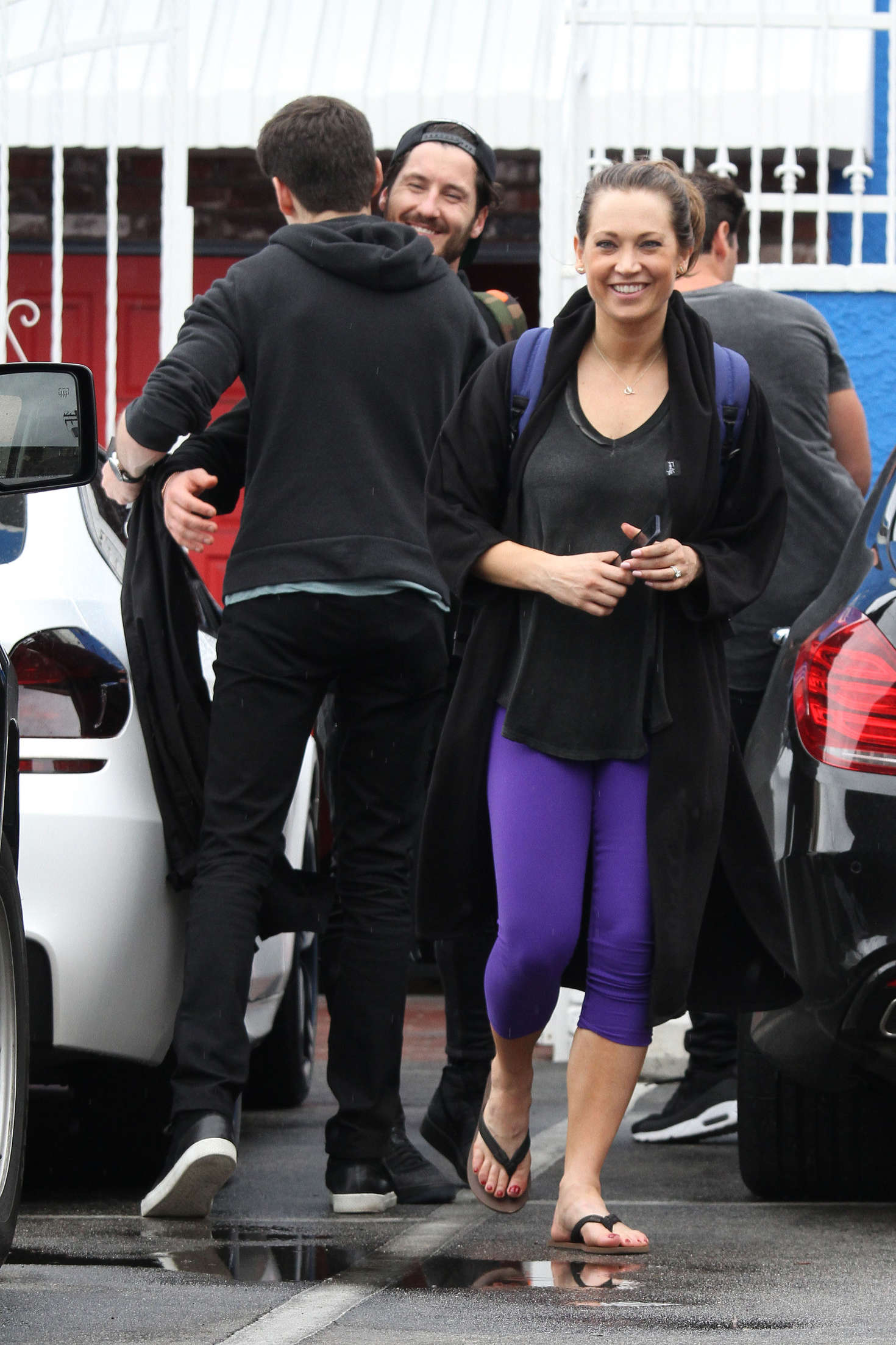 Ginger Zee in Tights at DWTS Practice in Hollywood