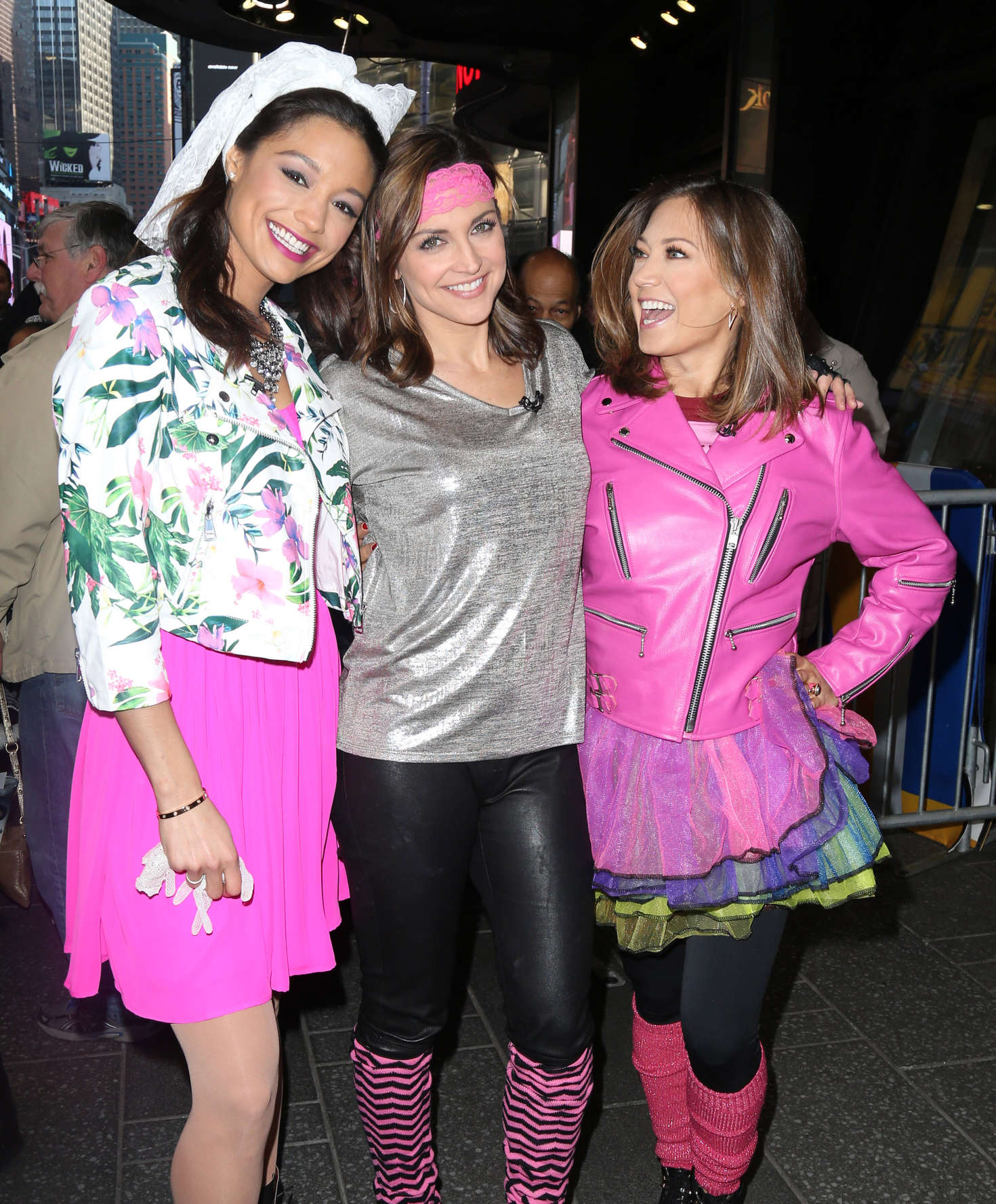 Ginger Zee Rachel Smith and Paula Faris at Good Morning America in New York