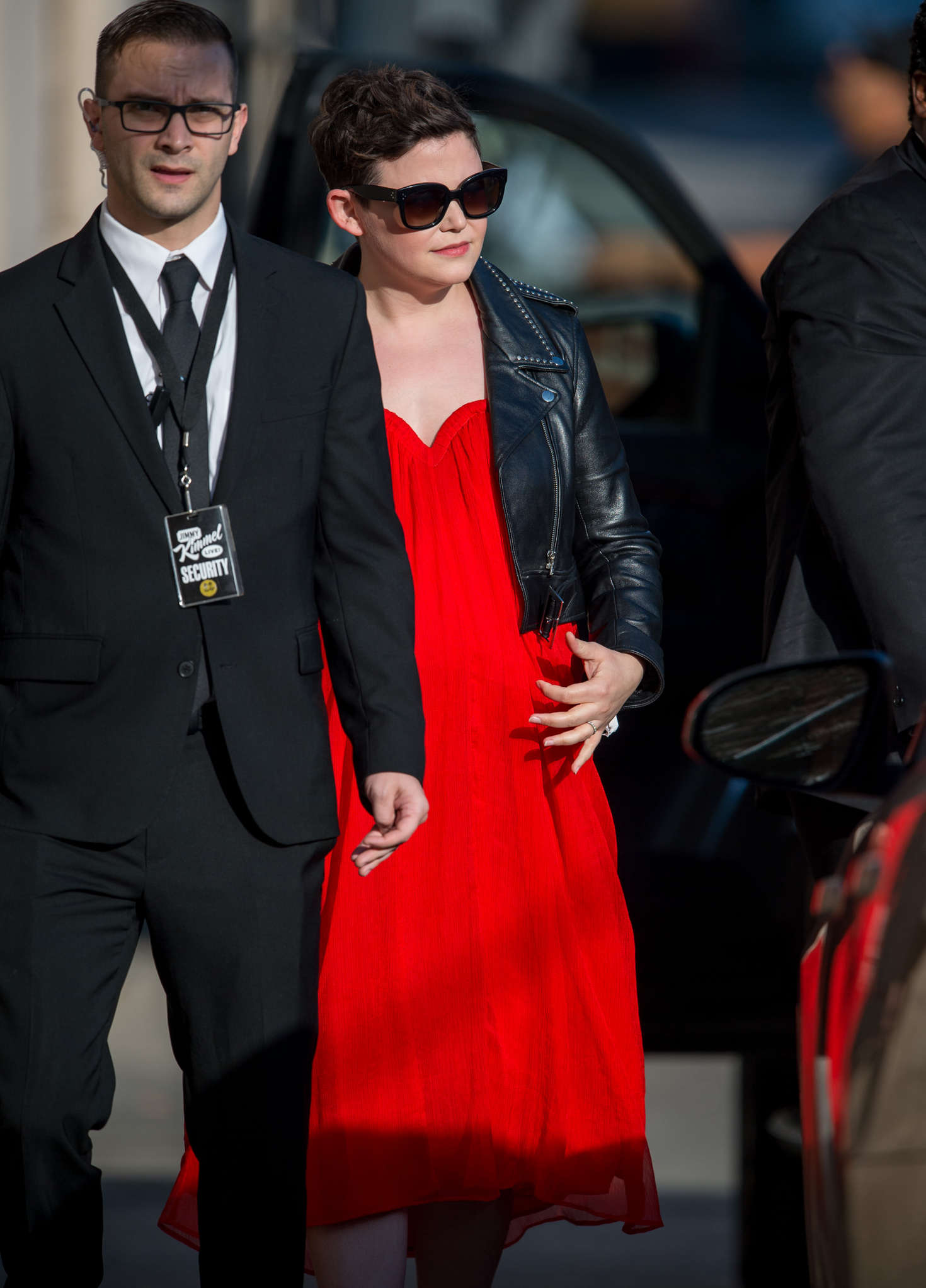 Ginnifer Goodwin Arriving at Jimmy Kimmel Live in Los Angeles
