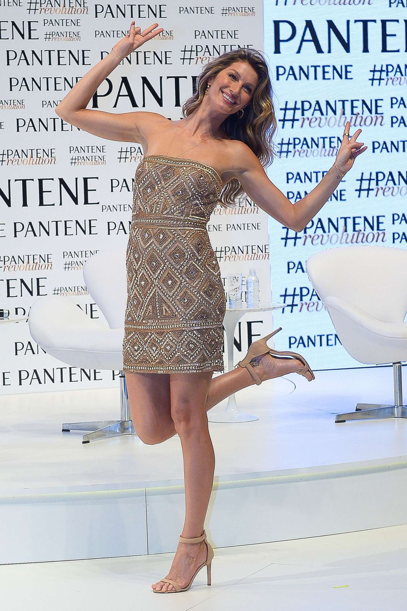 Gisele Bundchen Promoting Pantene in Sao Paulo