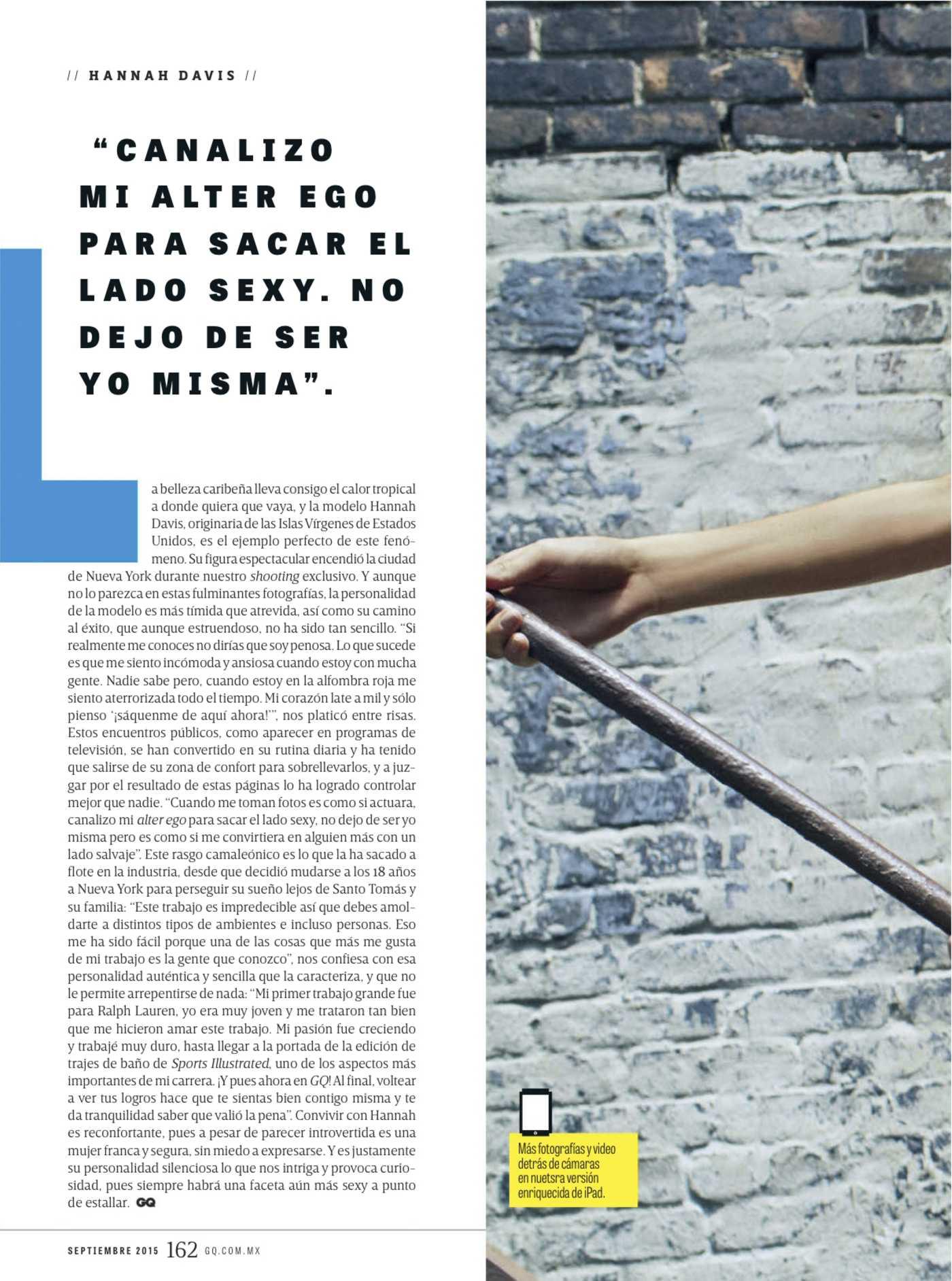 Hannah Davis GQ Mexico Magazine