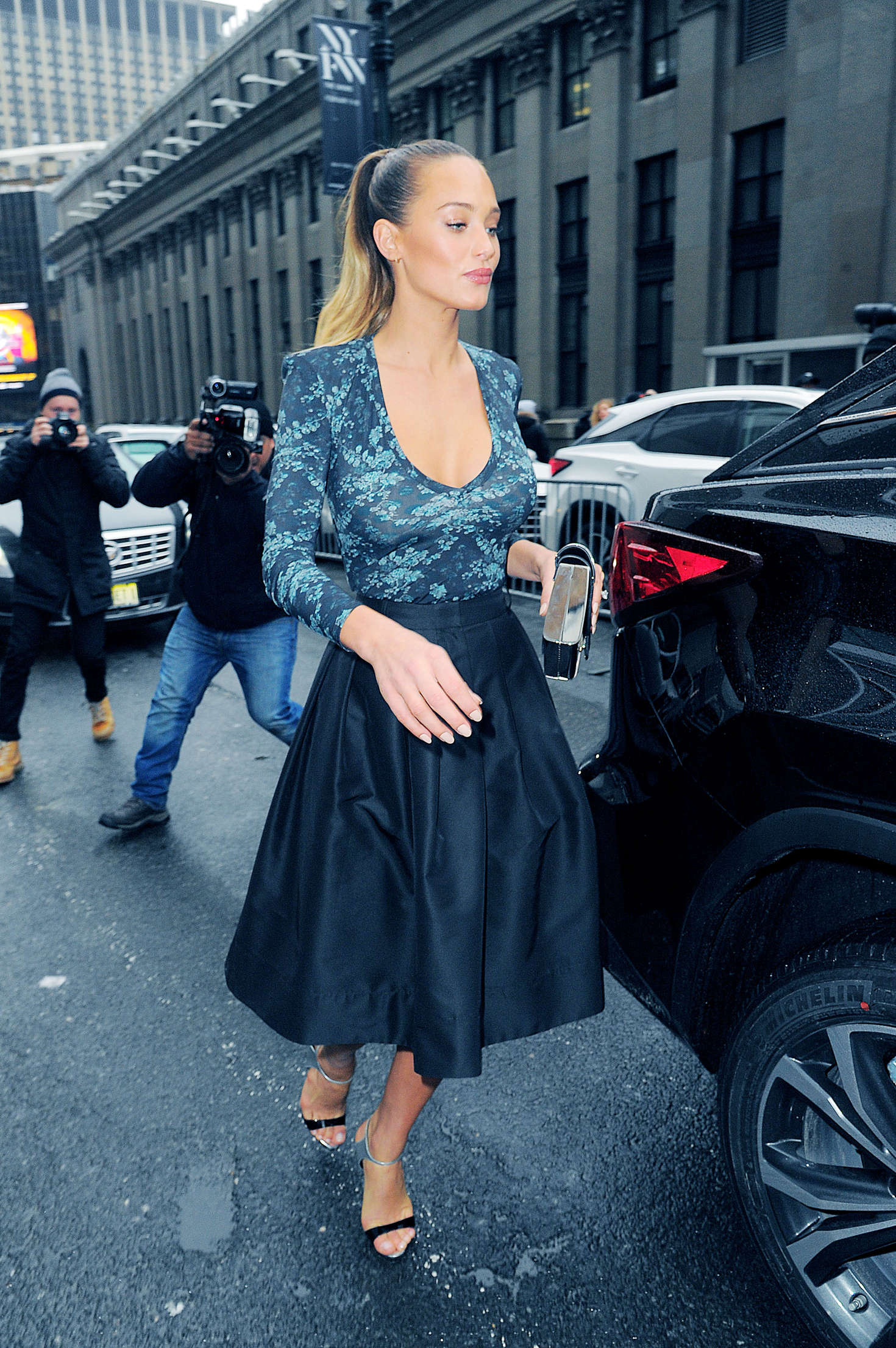 Hannah Davis out in Manhattan
