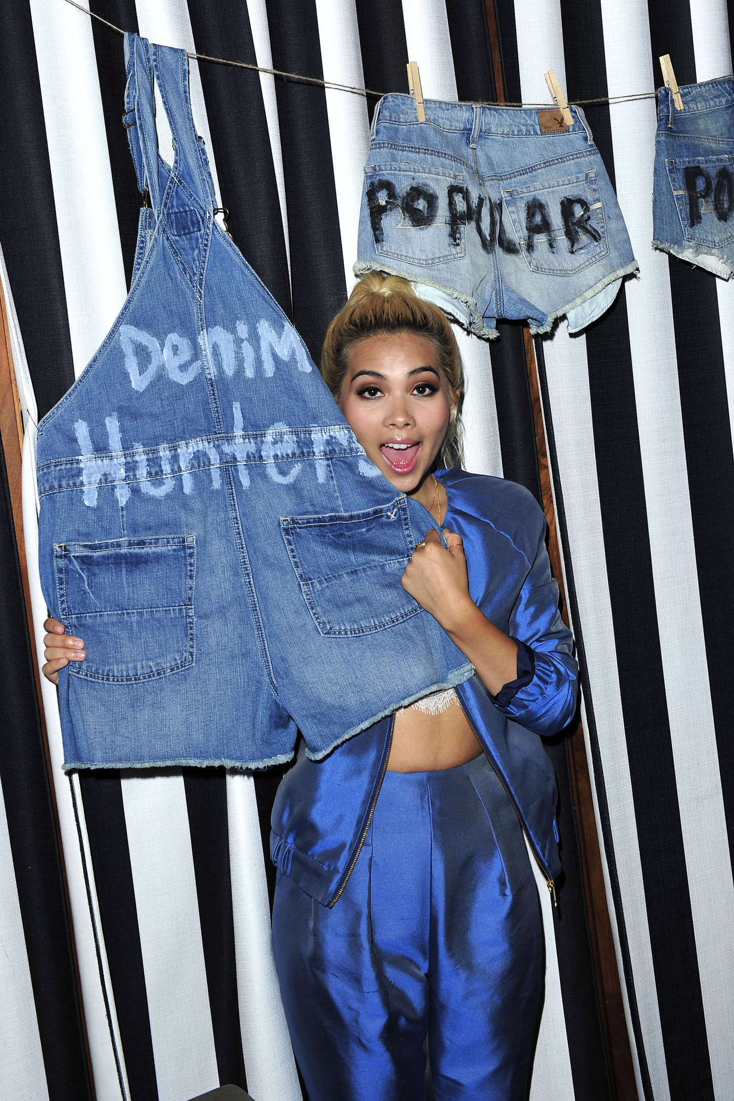 Hayley Kiyoko POPULAR TV Celebrates Denim Hunters in Beverly Hills