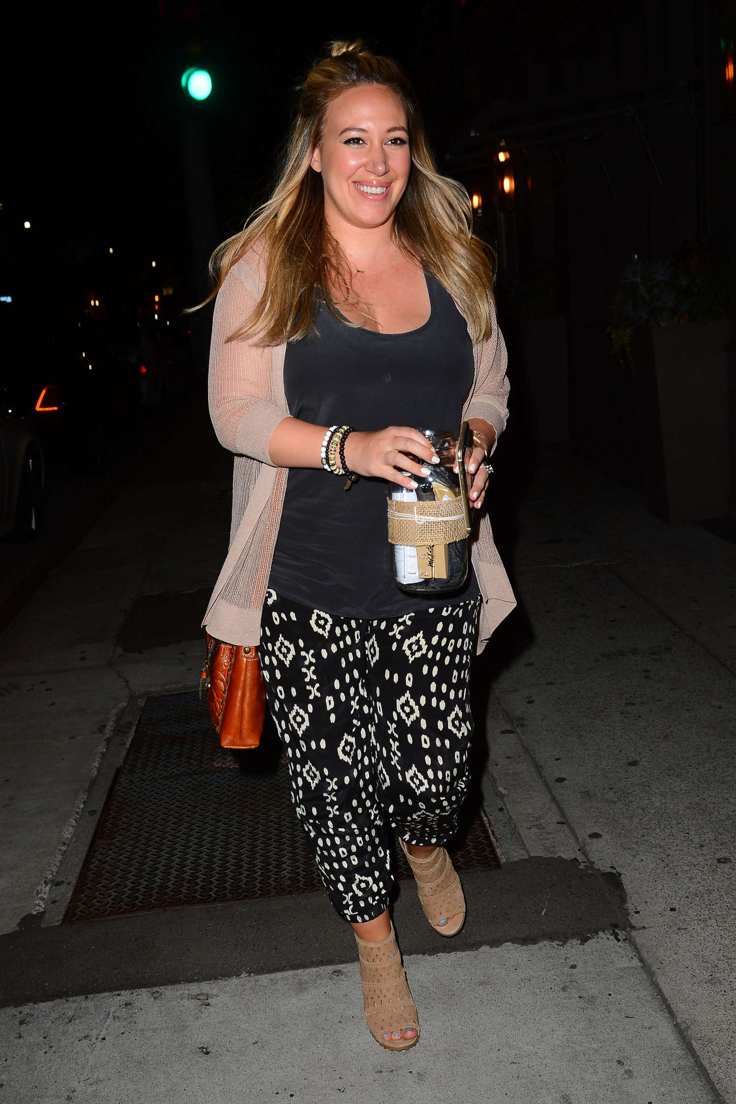 Haylie Duff Leaving Taco Madera in West Hollywood