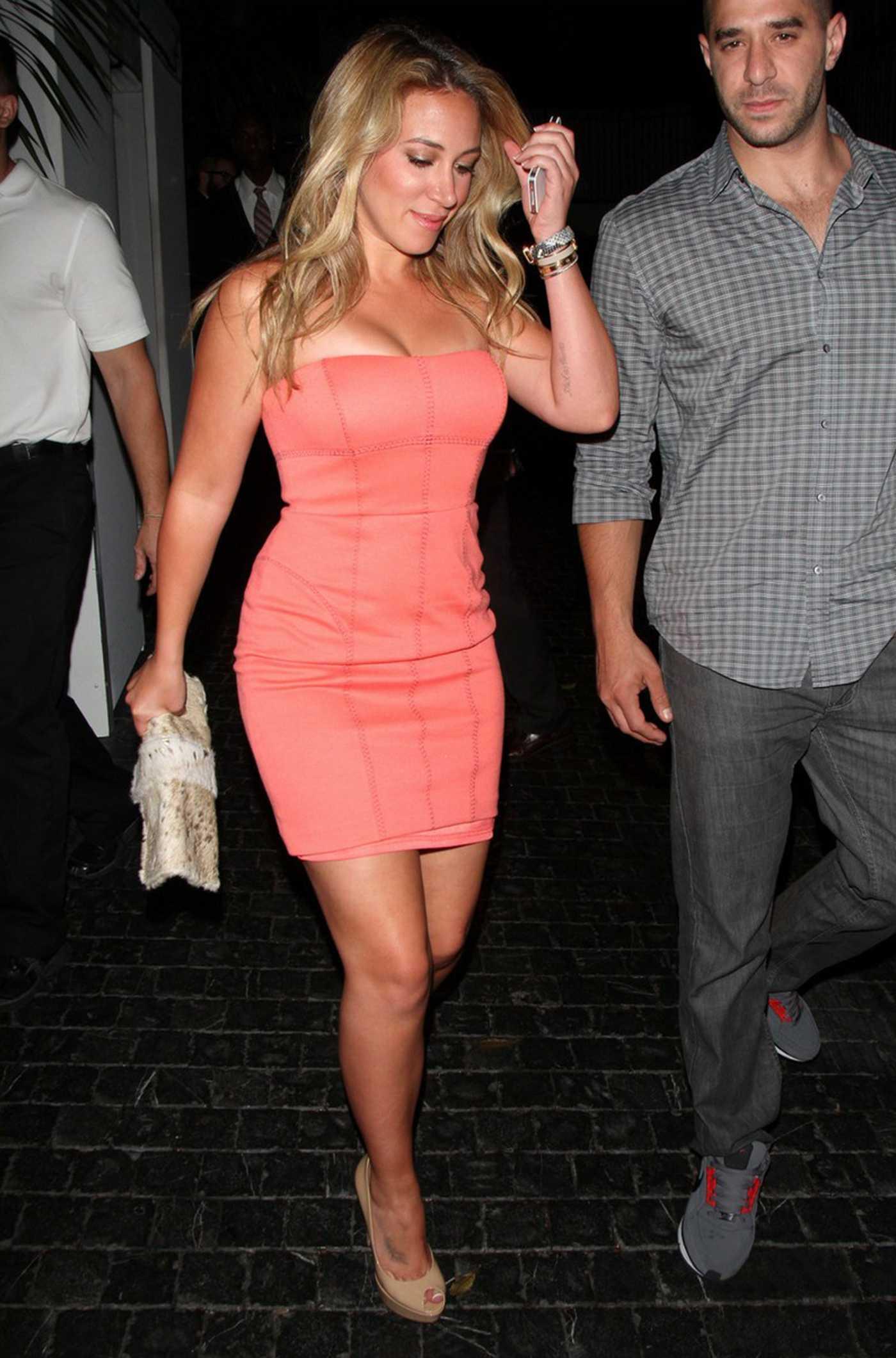 Haylie Duff Wear Short Dress in West Hollywood