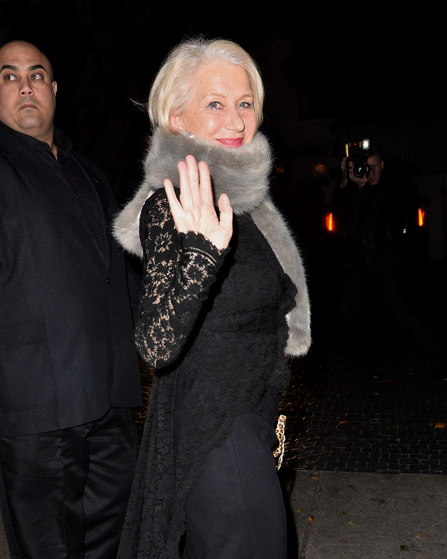 Helen Mirren Arrives to the W Magazine Golden Globe Party in Los Angeles