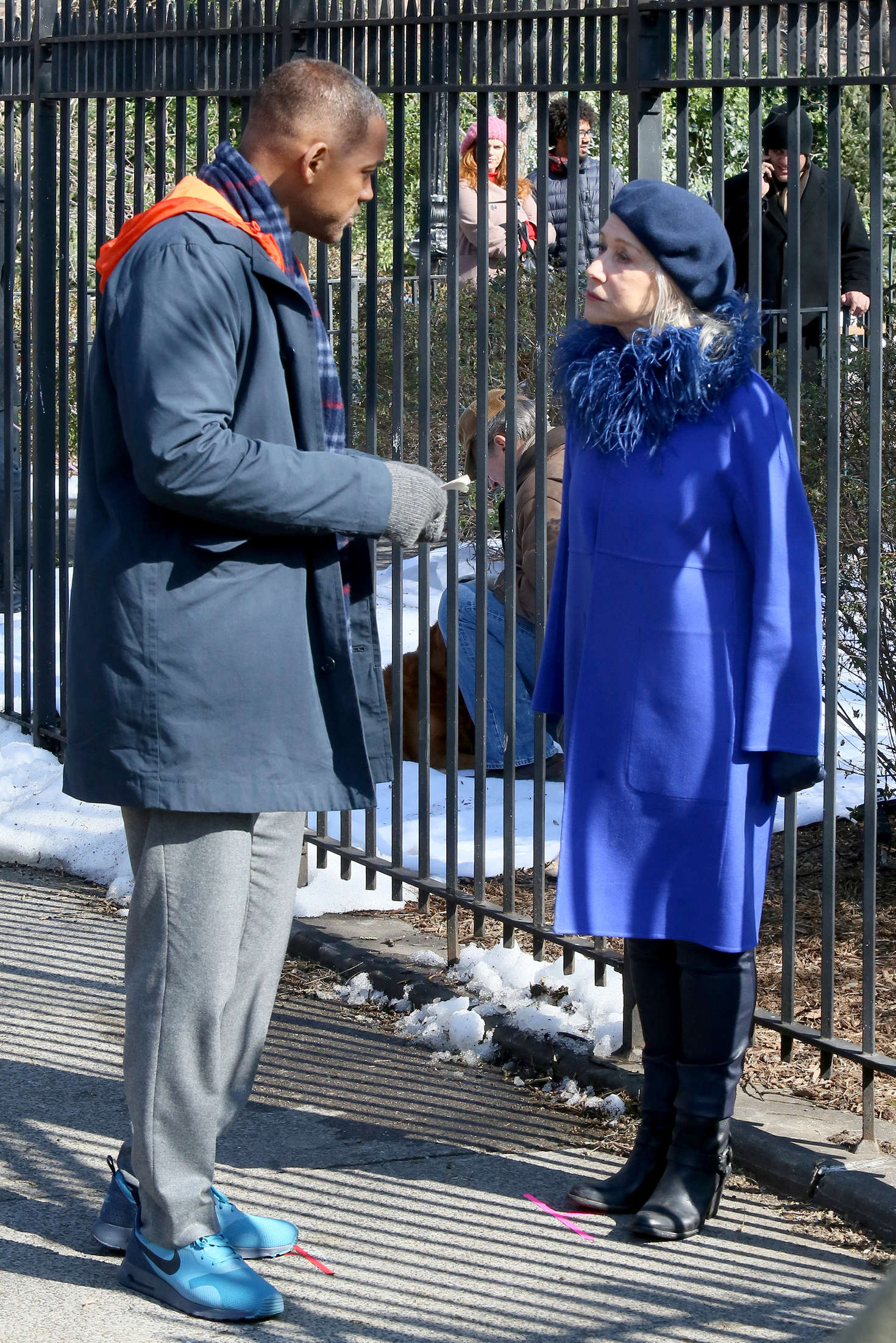 Helen Mirren Filming Collateral Beauty in New York
