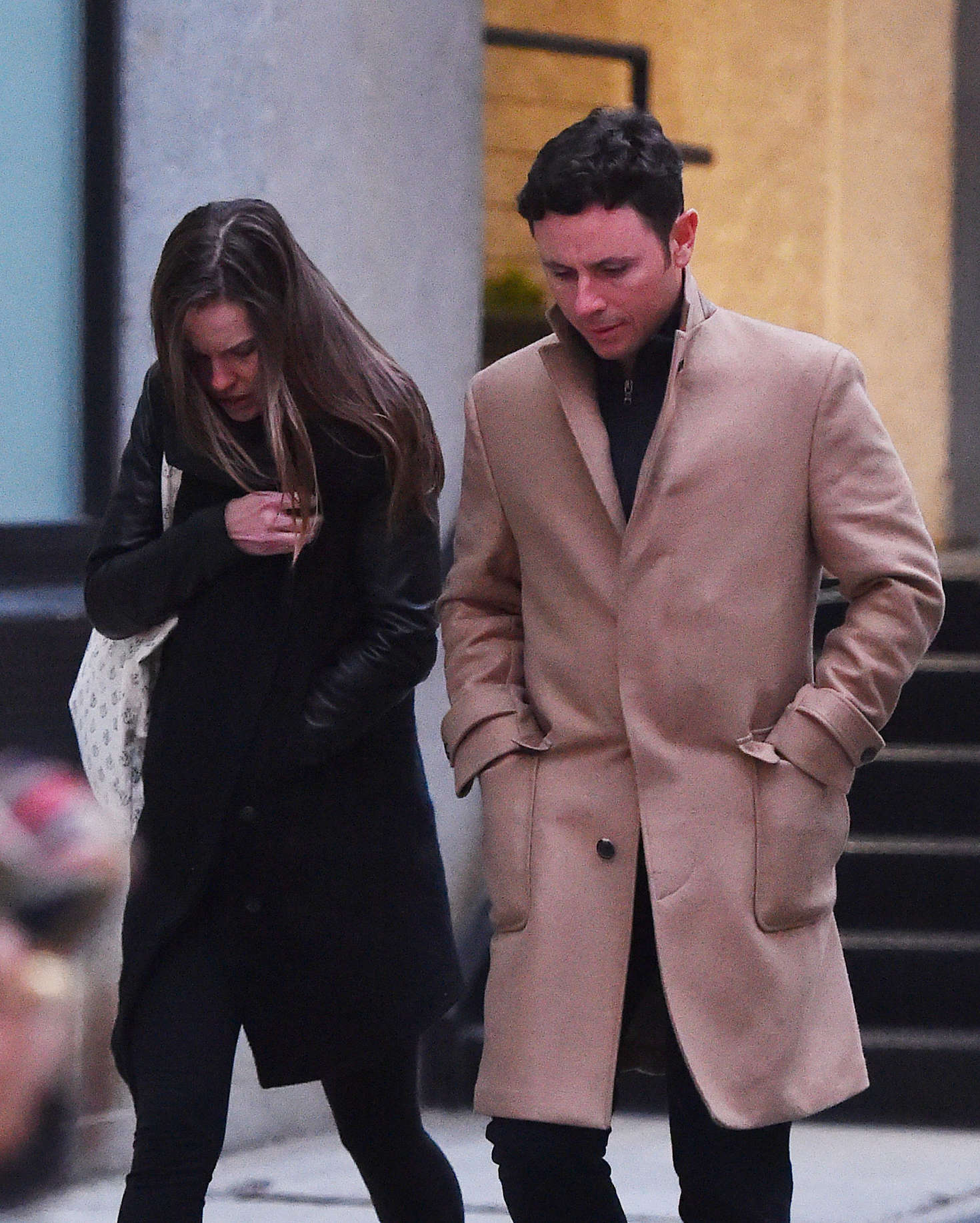 Hilary Swank with her fiance out in New York-1