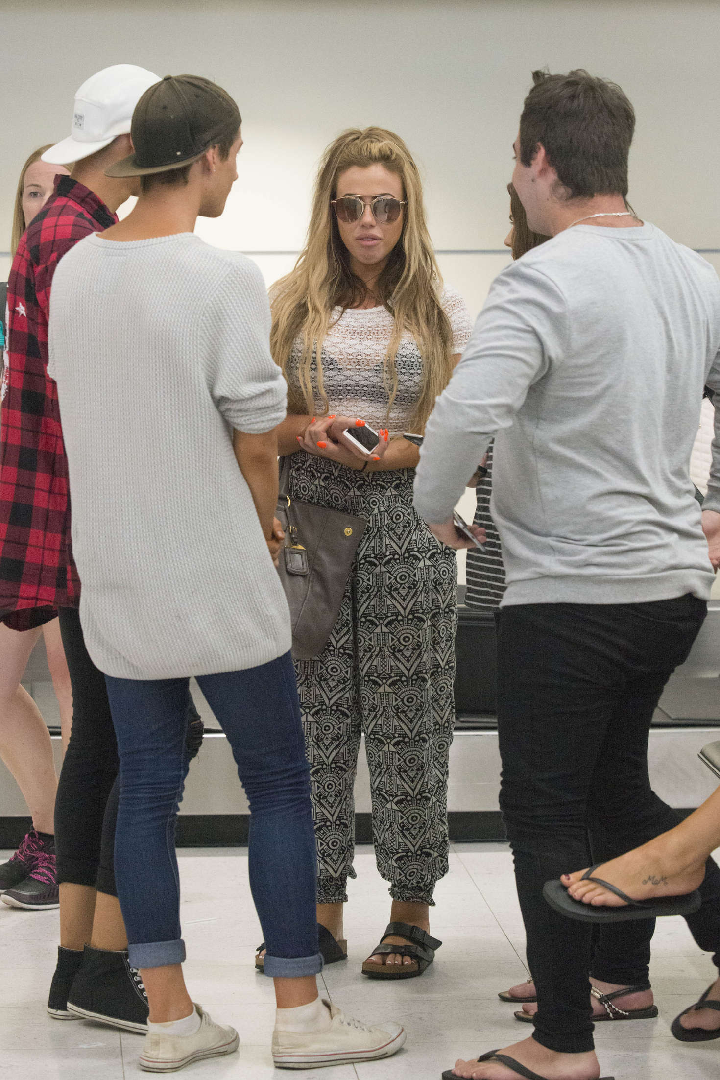 Holly Hagan and Chloe Etherington at Airport in Sydney