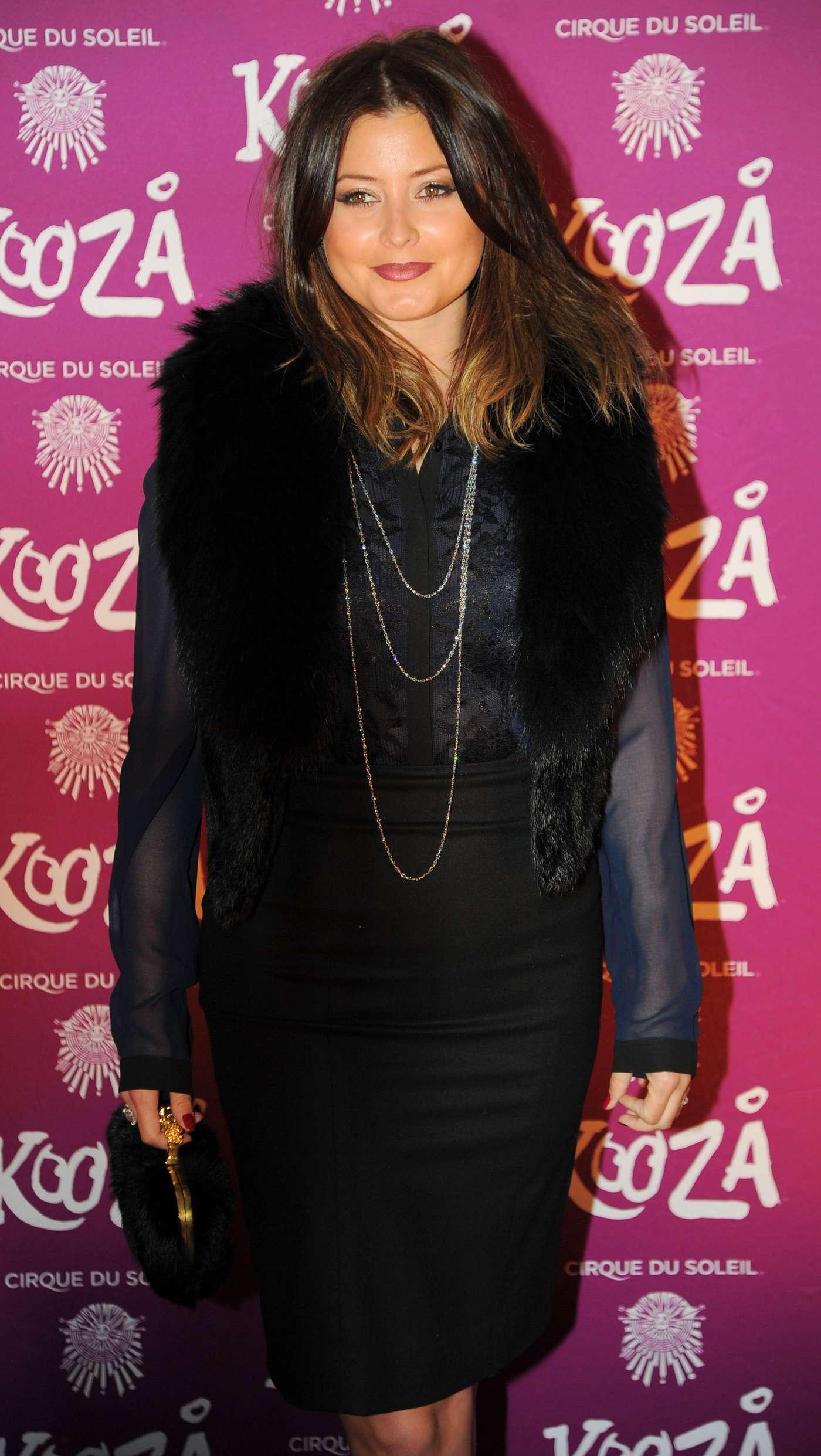 Holly Valance Du Soleils Kooza Opening night in London