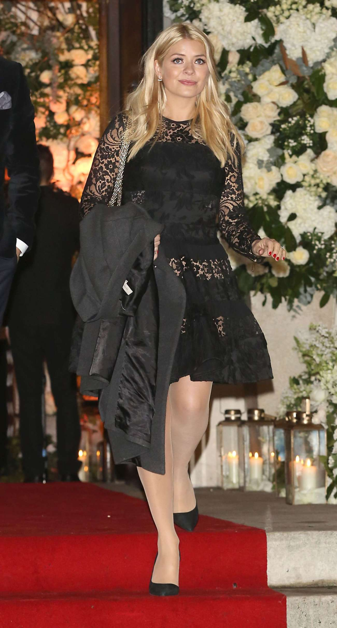 Holly Willoughby Leaves Christine Bleakley Wedding in London