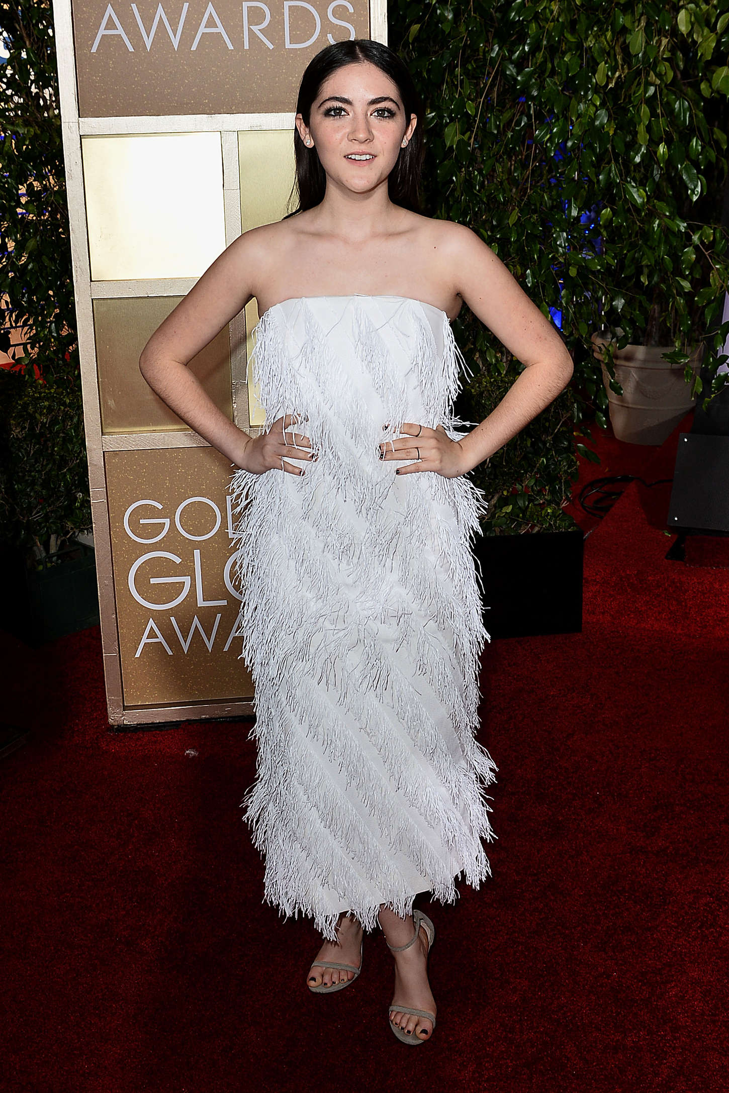 Isabelle Fuhrman Leaves a Golden Globes Party