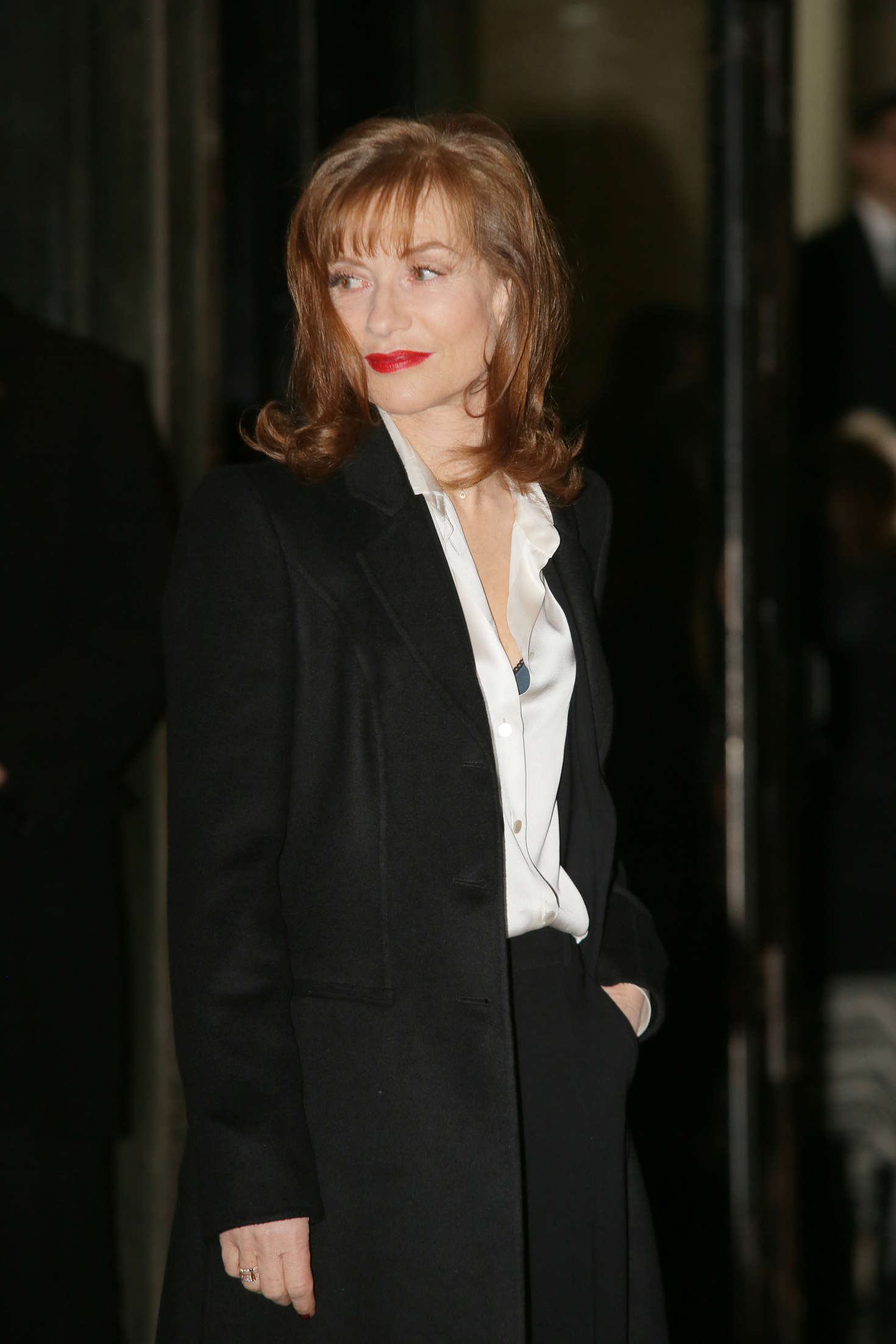 Isabelle Huppert Arrivals at Giorgio Armani Fashion Show Spring Summer in Paris