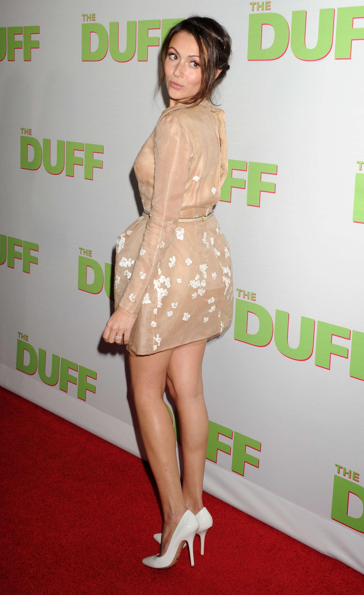 Italia Ricci The Duff Premiere in Los Angeles