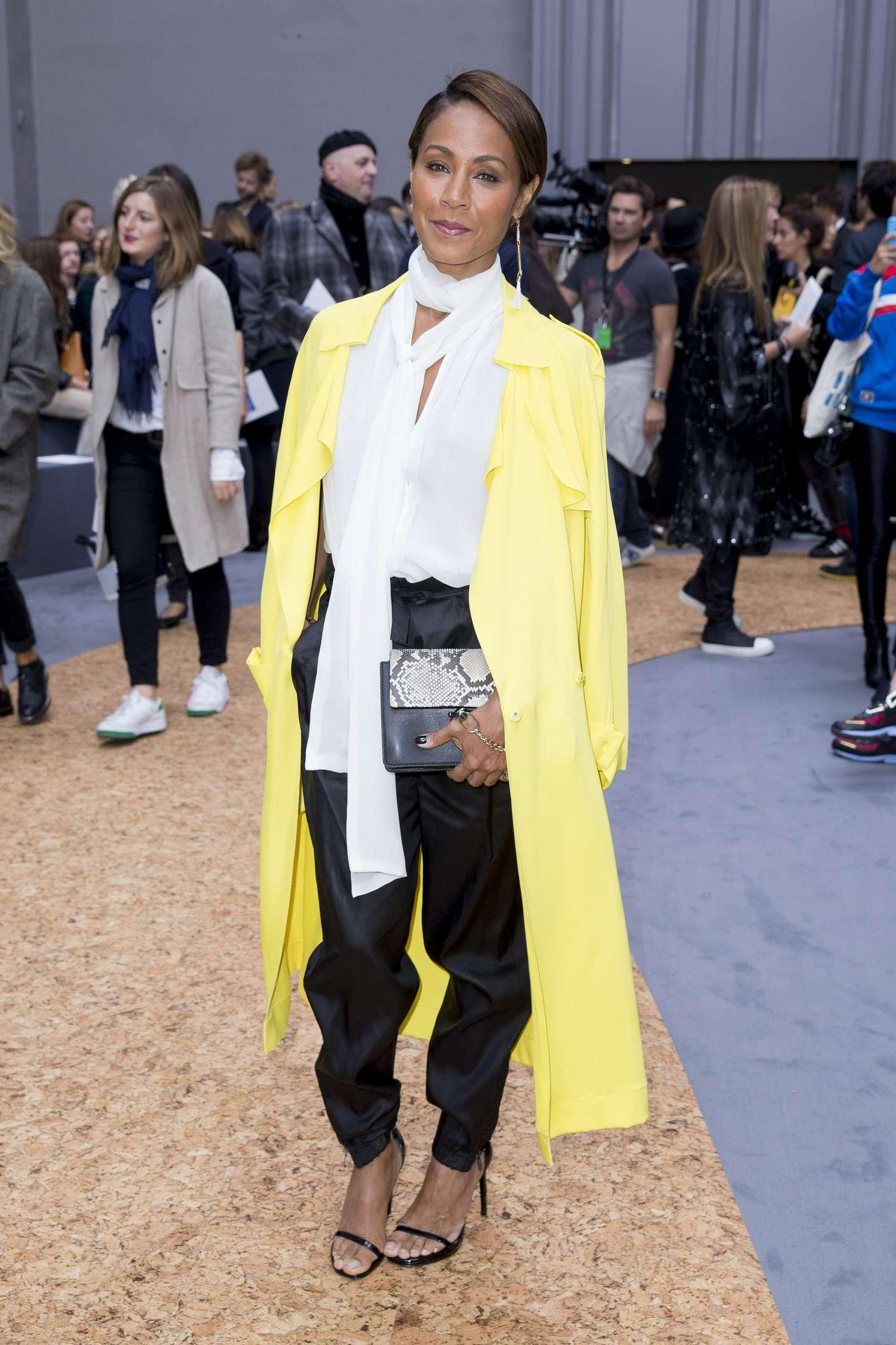 Jada Pinkett Smith Chloe Fashion Show in Paris