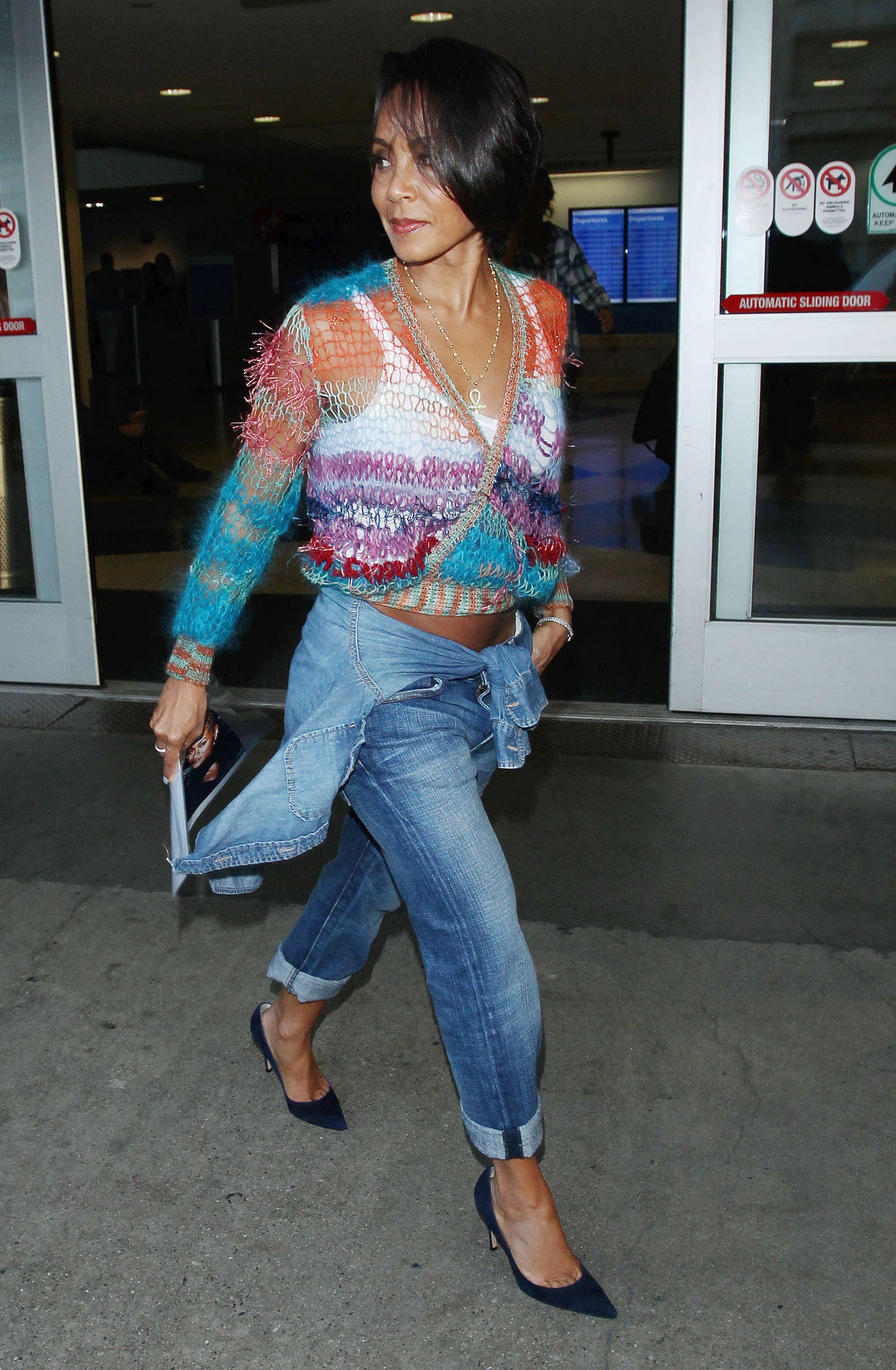 Jada Pinkett Smith LAX airport in Los Angeles