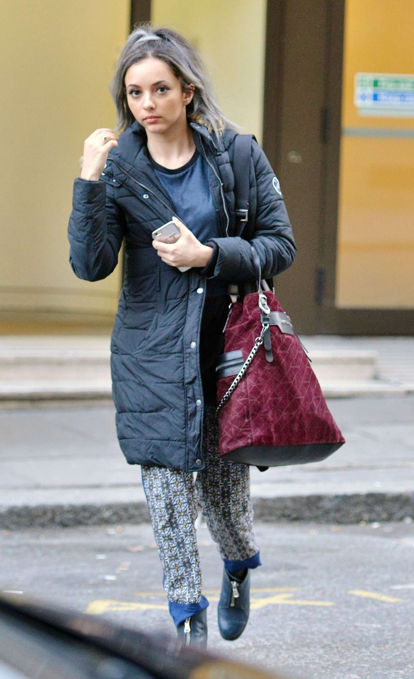 Jade Thirlwall Leaving Sony offices in London