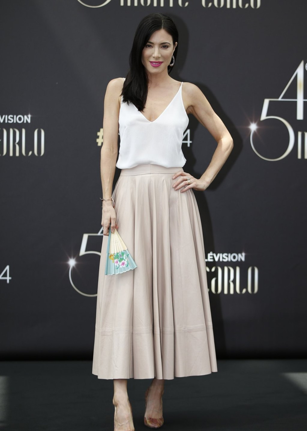 Jaime Murray Defiance photocall at the Monte Carlo TV Festival in Monaco