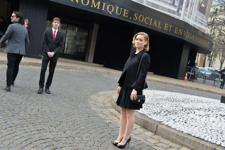 Jane Levy Miu Miu Fashion Show in Paris