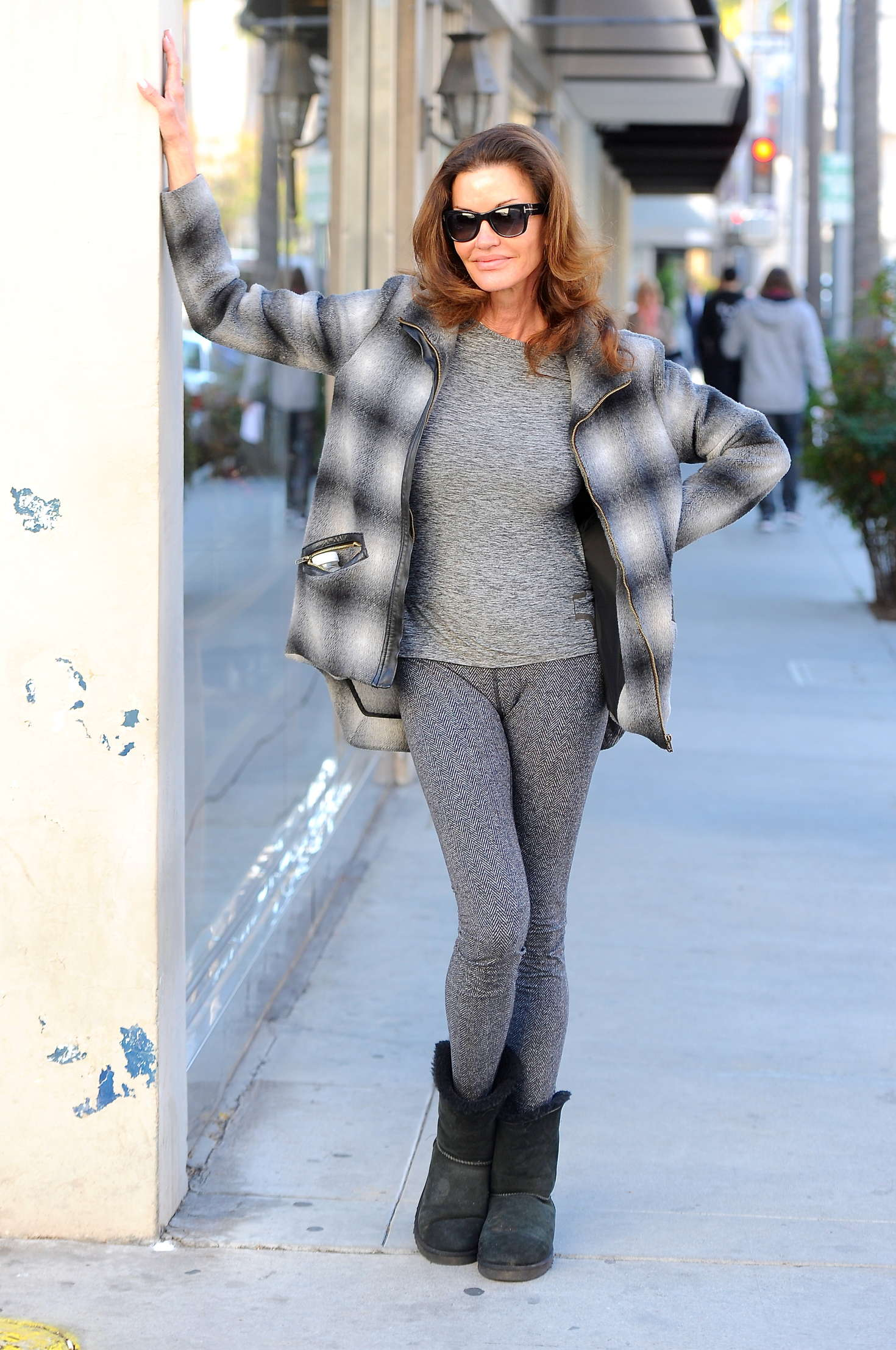 Janice Dickinson in Tights out in Beverly Hils