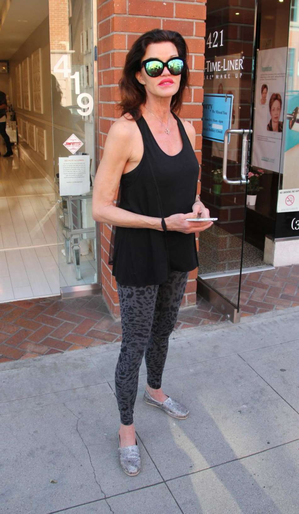 Janice Dickinson Street Style out in Beverly Hills