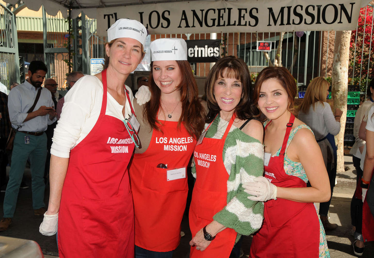 Jen Lilley Los Angeles Mission Easter Event