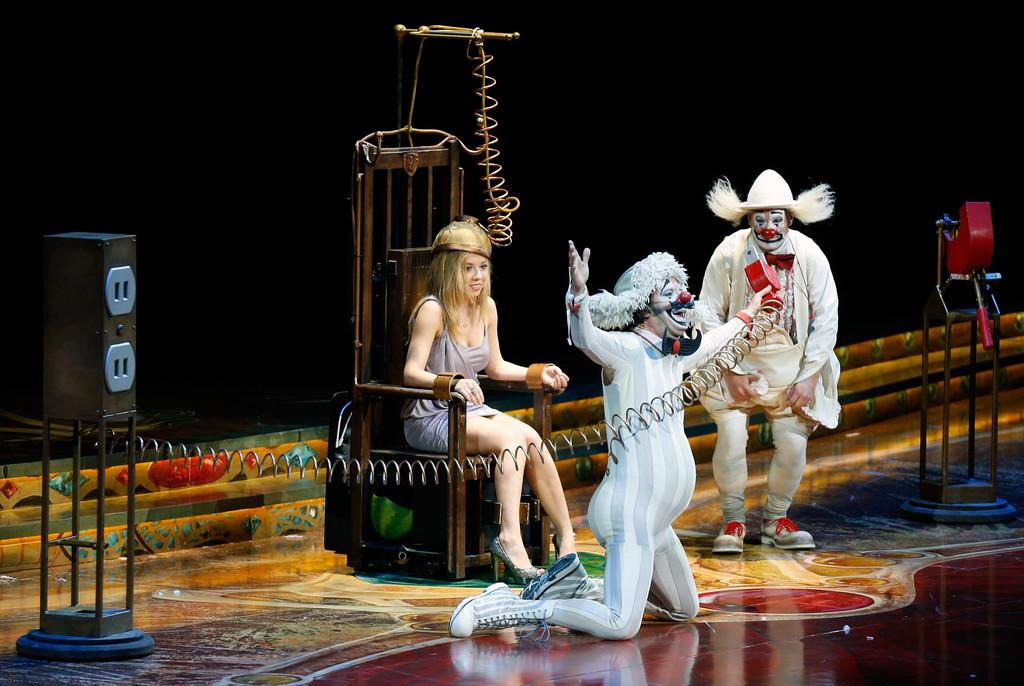 Jennette McCurdy Zarkana by Cirque du Soleil premiere in Las Vegas