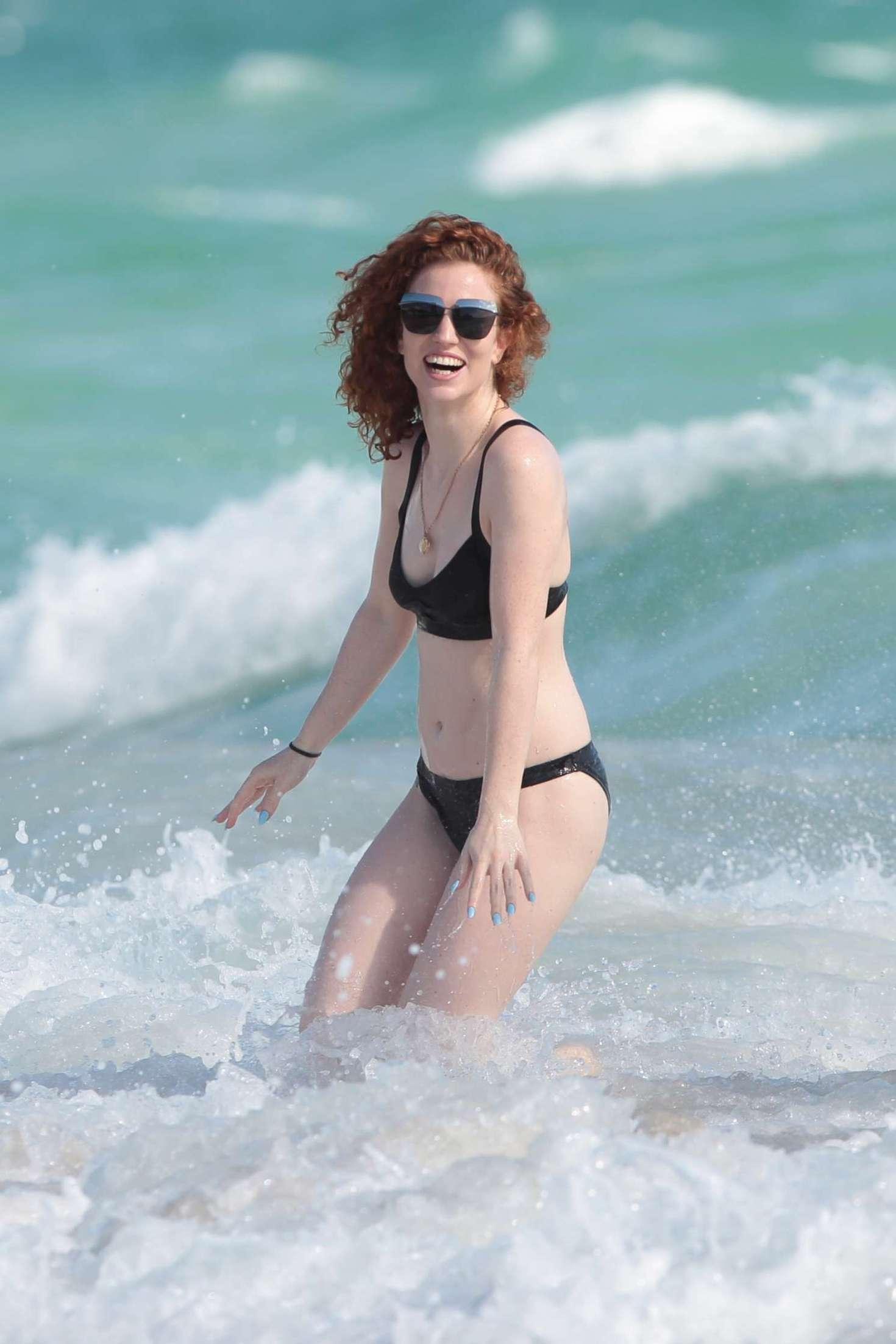Jess Glynne In bikini at the beach in Miami