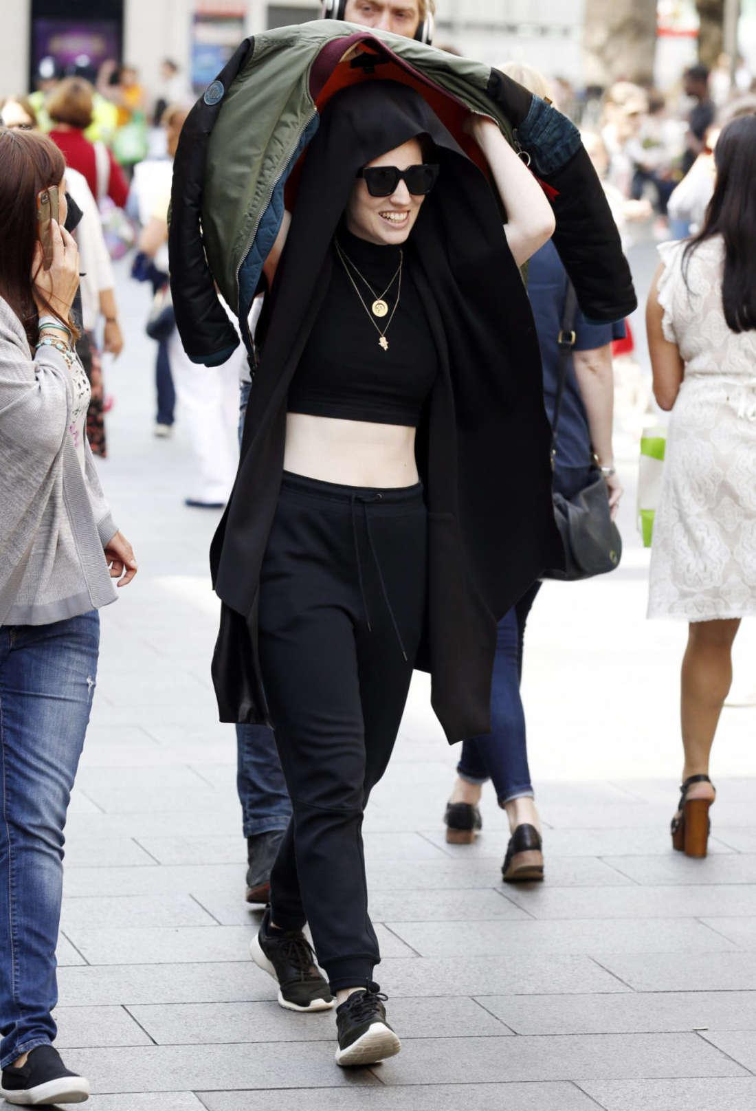 Jess Glynne Leaving the Global Radio Studios