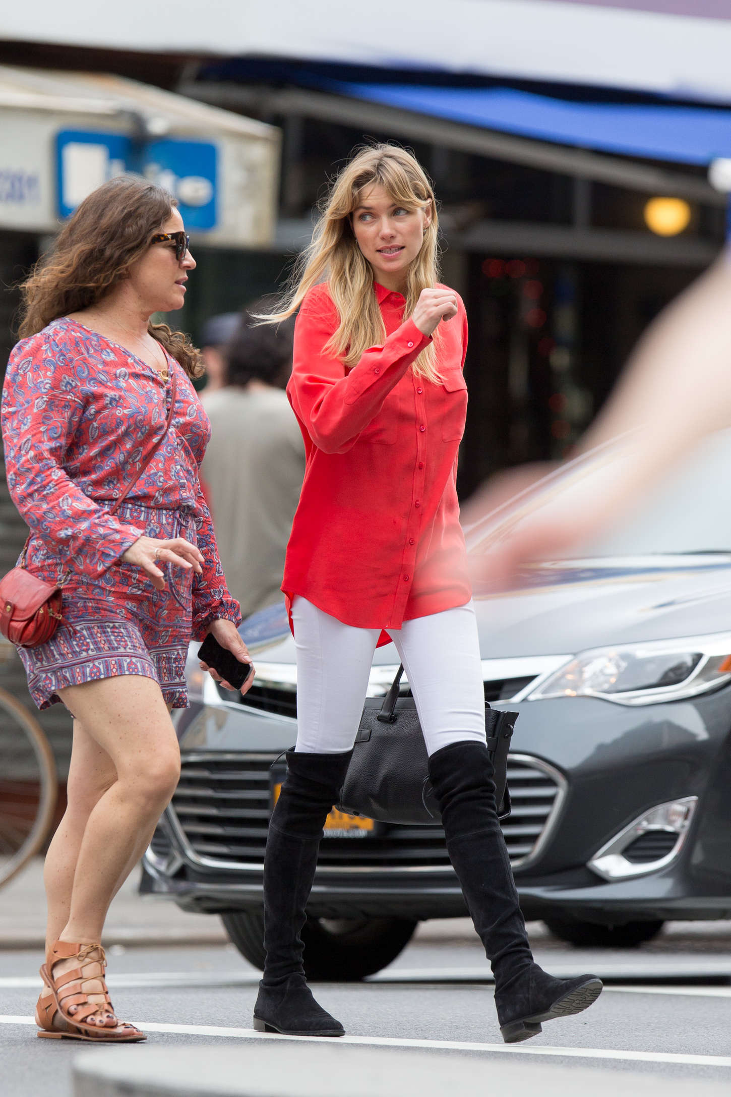 Jessica Hart out in New York