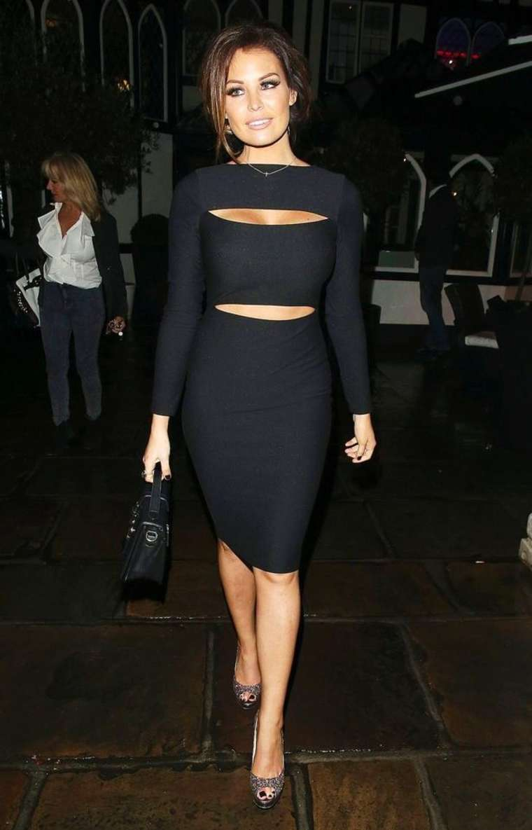 Jessica Wright Leaving The Sheesh Restaurant In Chigwell
