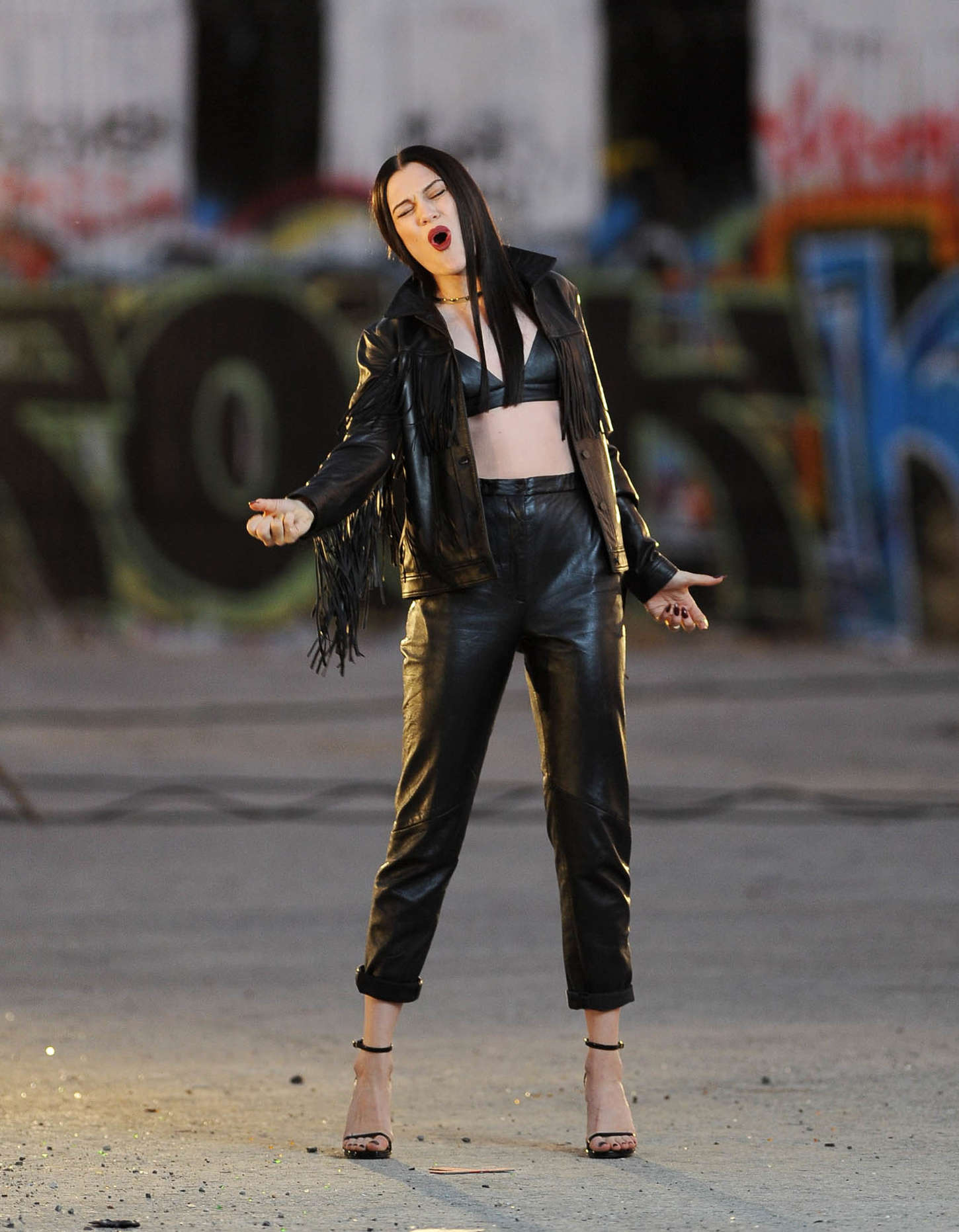 Jessie J on set of her new music video 'Masterpiece' in Los Angeles