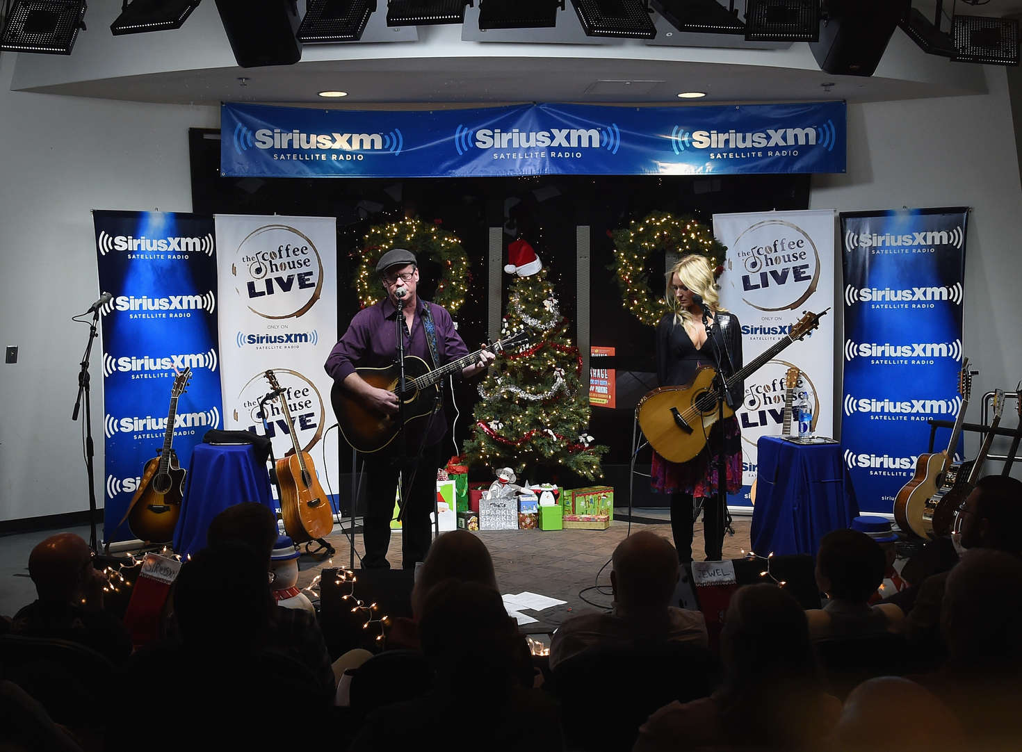 Jewel Kilcher SiriusXM Acoustic Christmas With Jewel And Shawn Mullins in Nashville