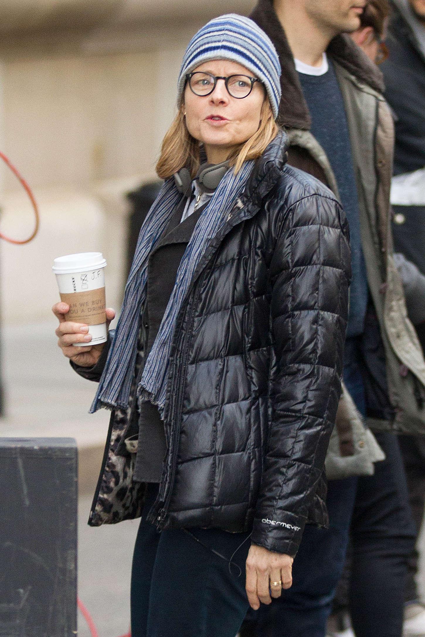 Jodie Foster Filming Money Monster in Wall Street