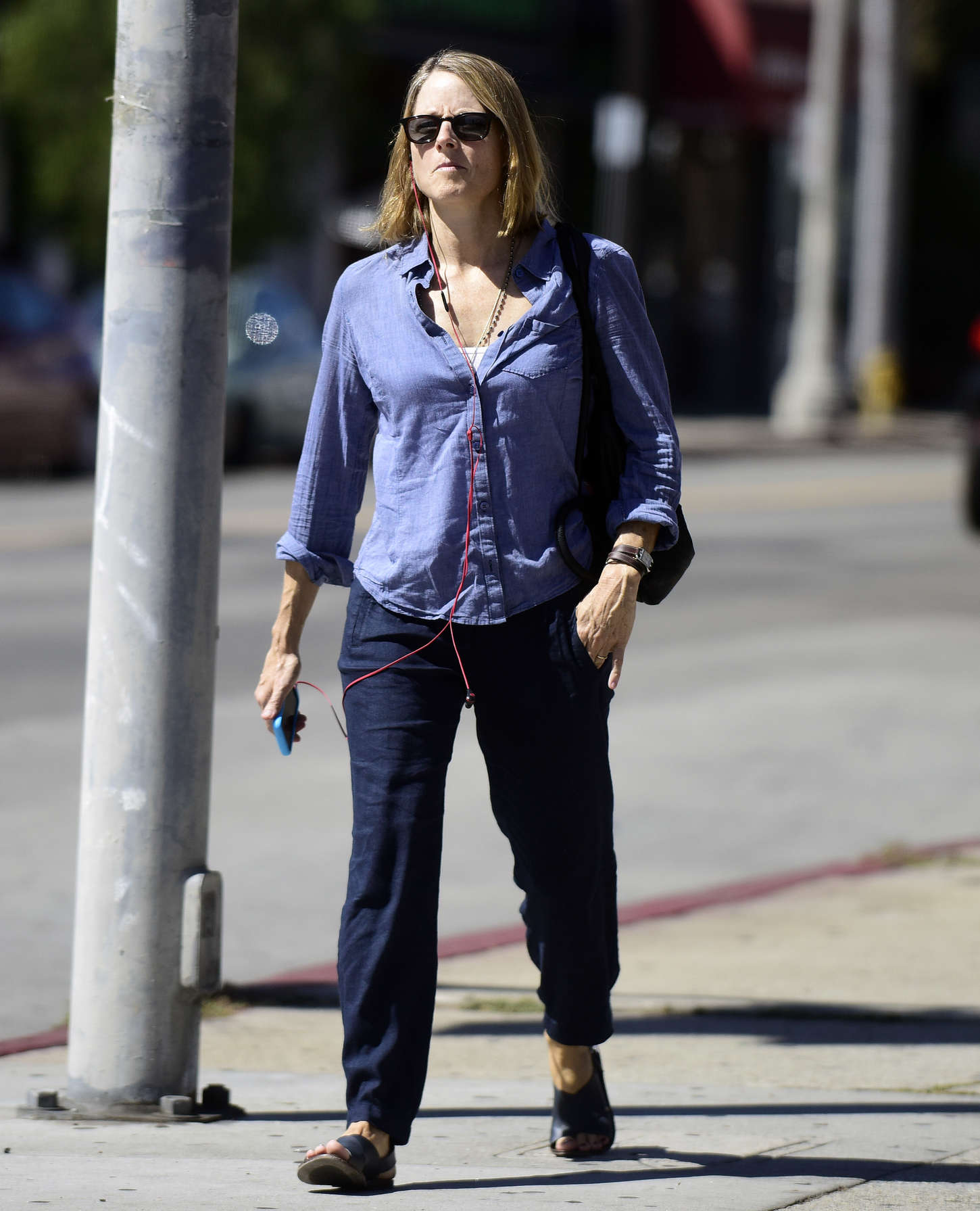 Jodie Foster go out in West Hollywood