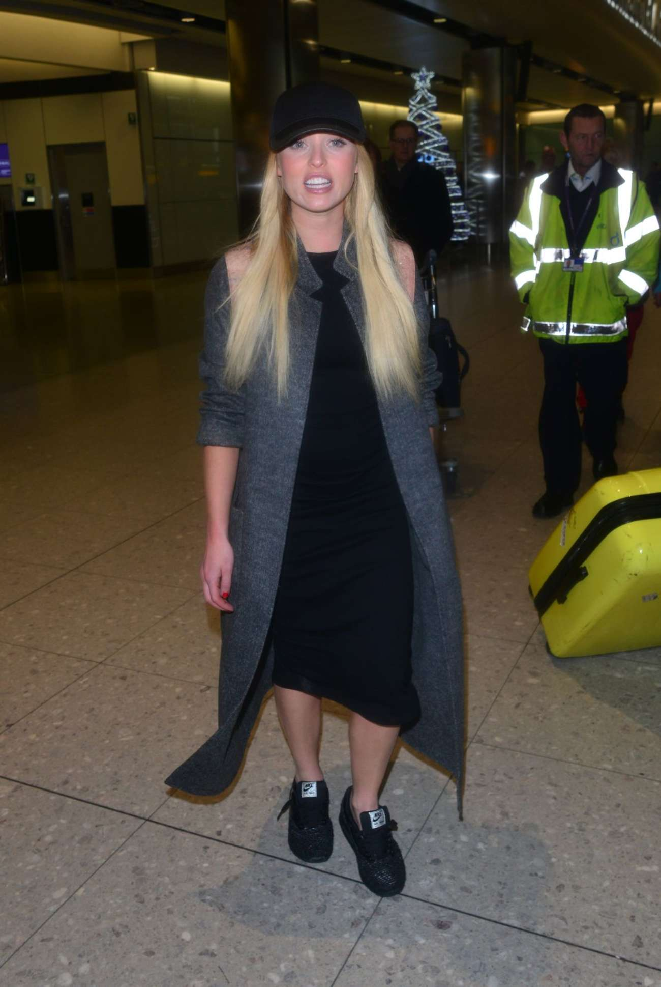 Jorgie Porter Heathrow Airport in London