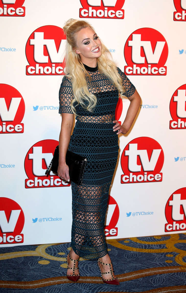 Jorgie Porter TV Choice Awards in London