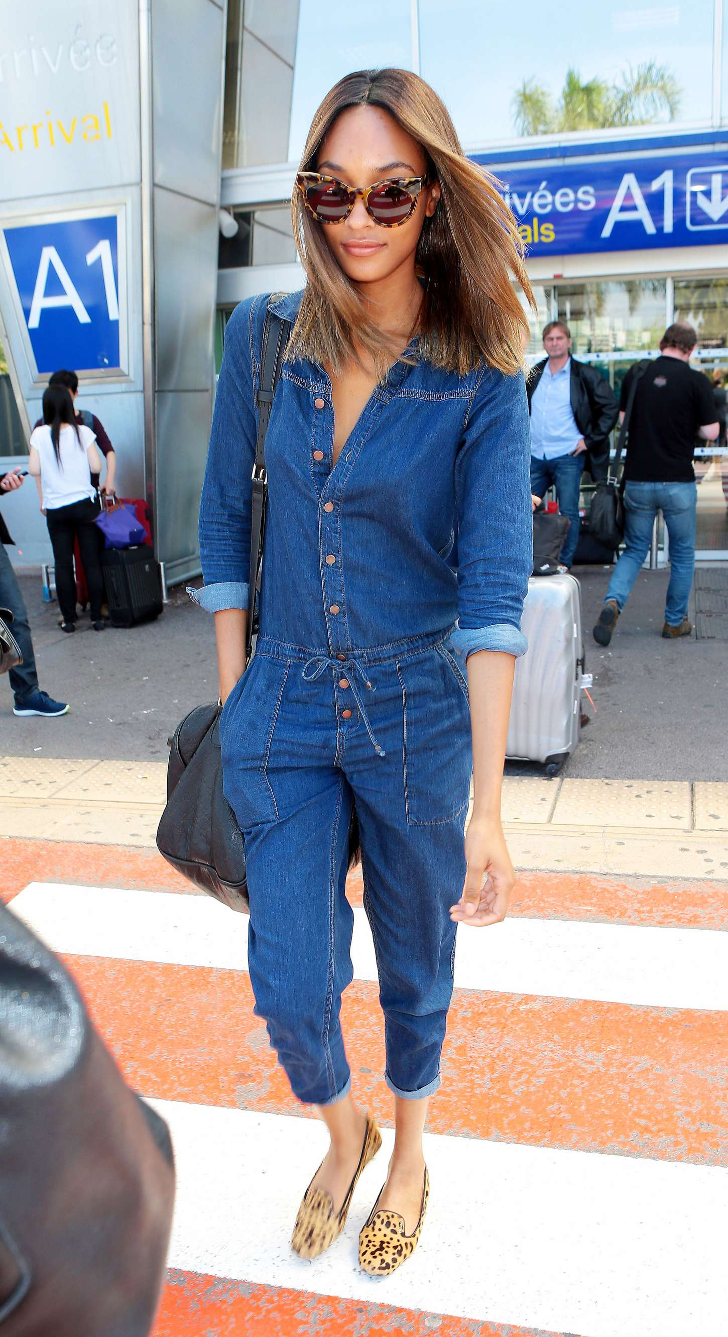 Jourdan Dunn at Airport in Nice