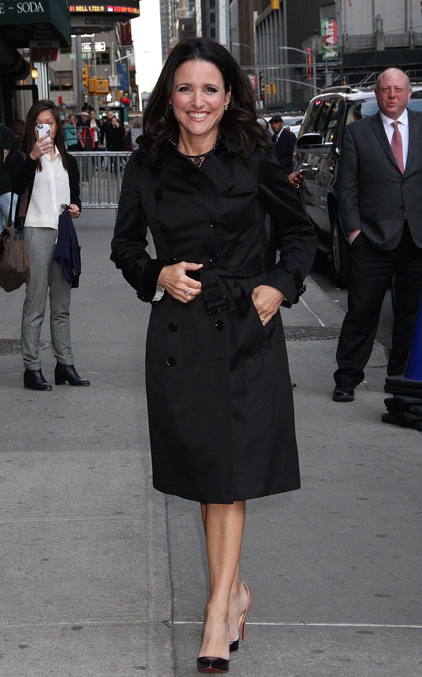 Julia Louis-Dreyfus Arrives at The Late Show with Stephen Colbert in New York