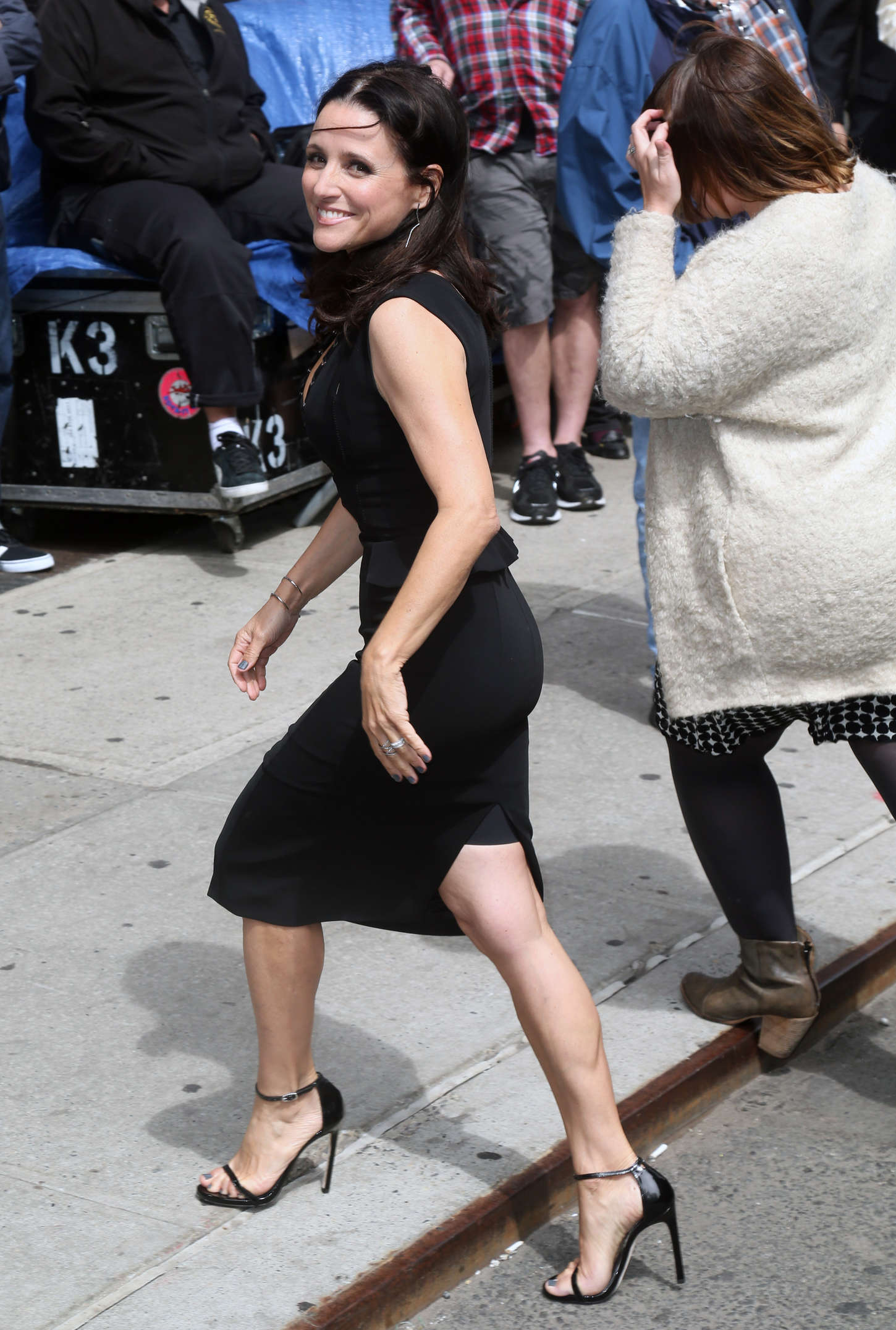 Julia Louis Dreyfus Arriving at The 'Late Show with David Letterman' in New York