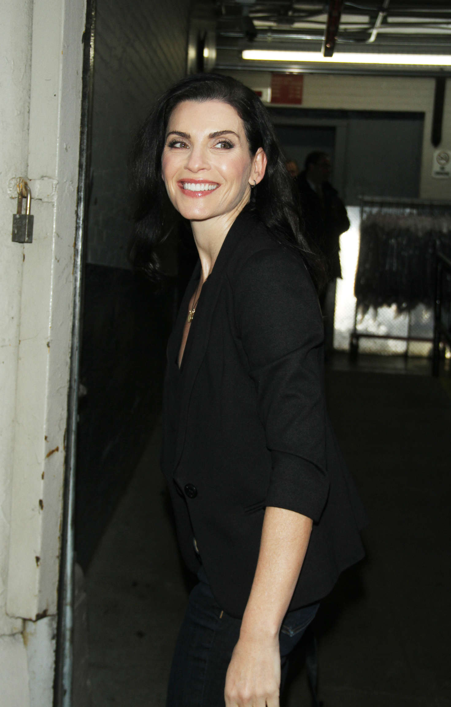 Julianna Margulies Arrives at AOL Build promoting her CBS series The Good Wife in New York