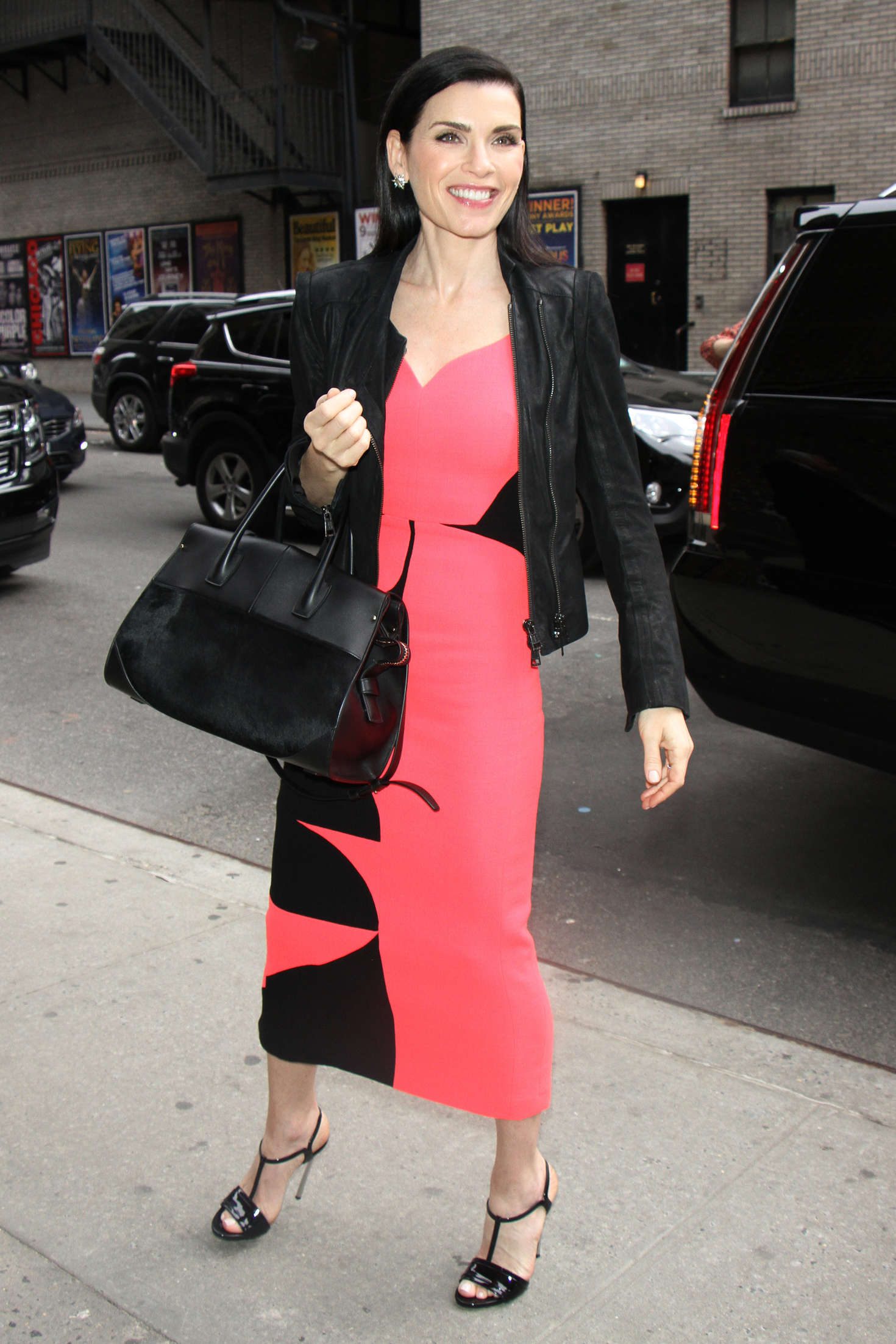 Julianna Margulies visits The Late Show with Stephen Colbert in New York