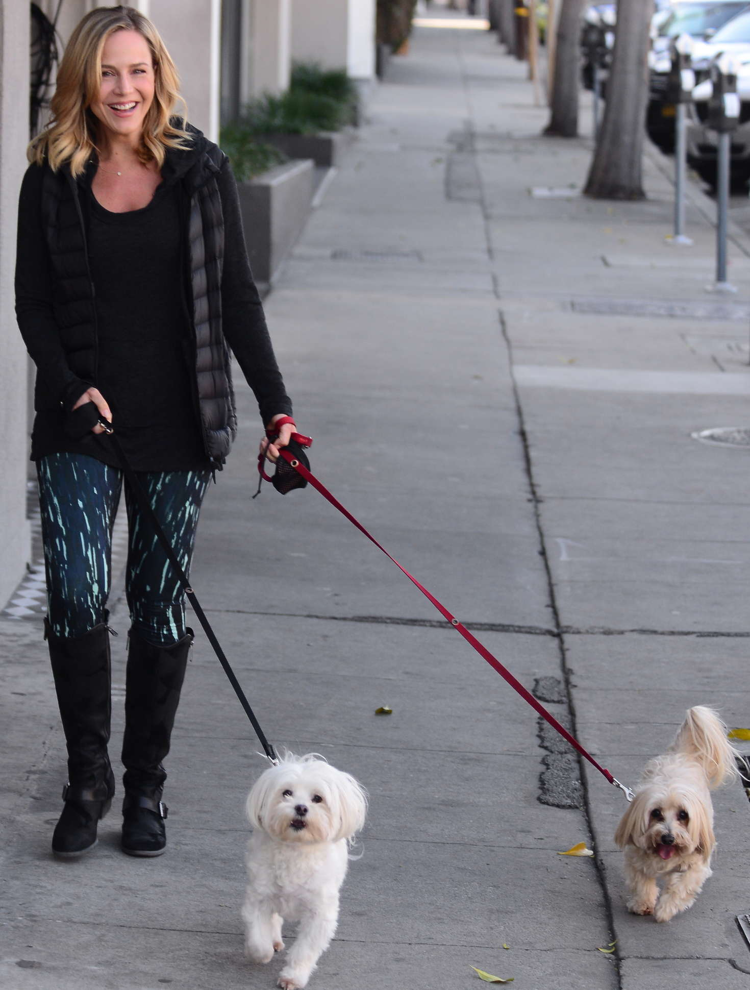 Julie Benz Walking her Dog in West Hollywood