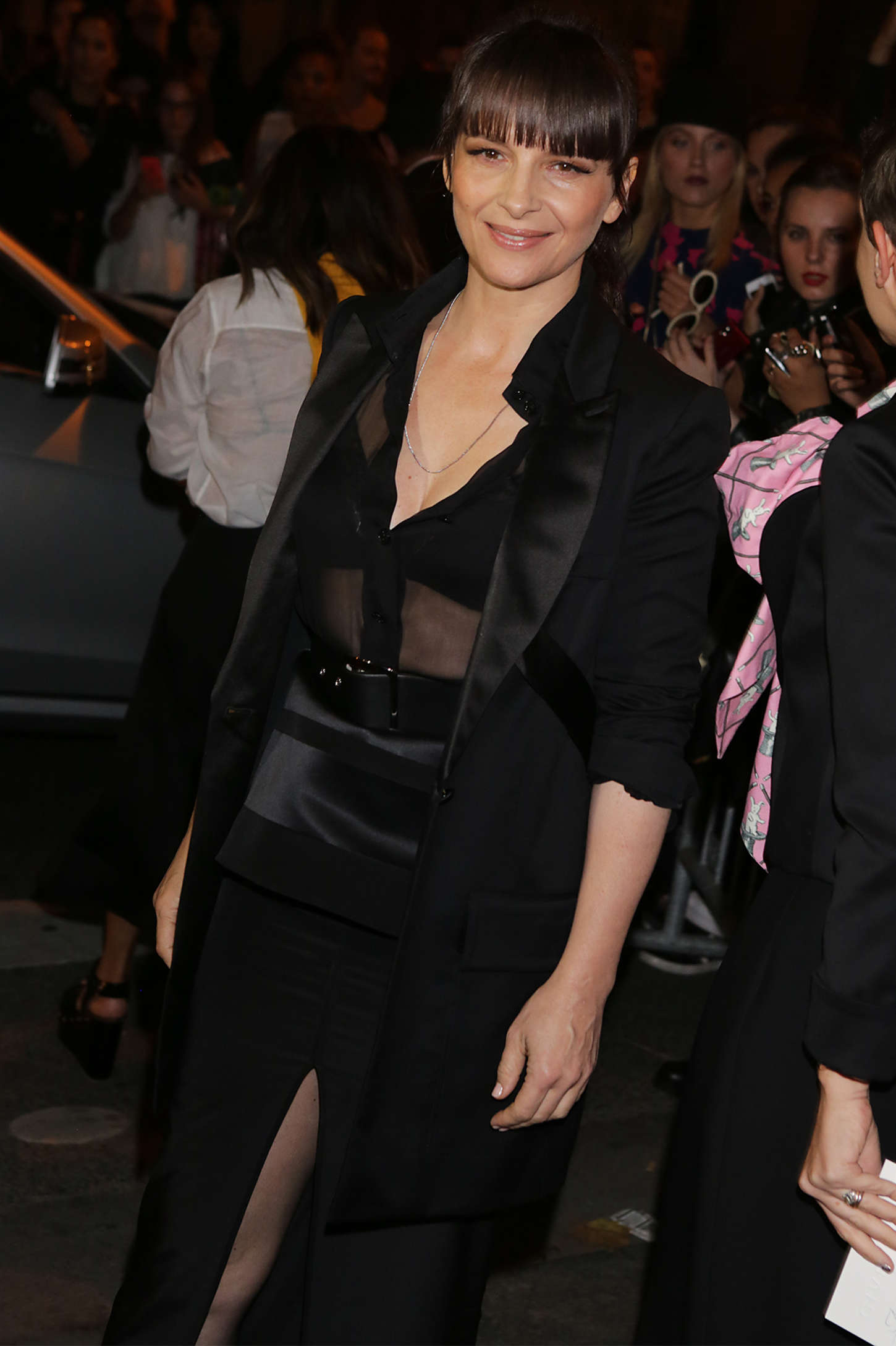 Juliette Binoche Givenchy Chanel Fashion Show in Paris