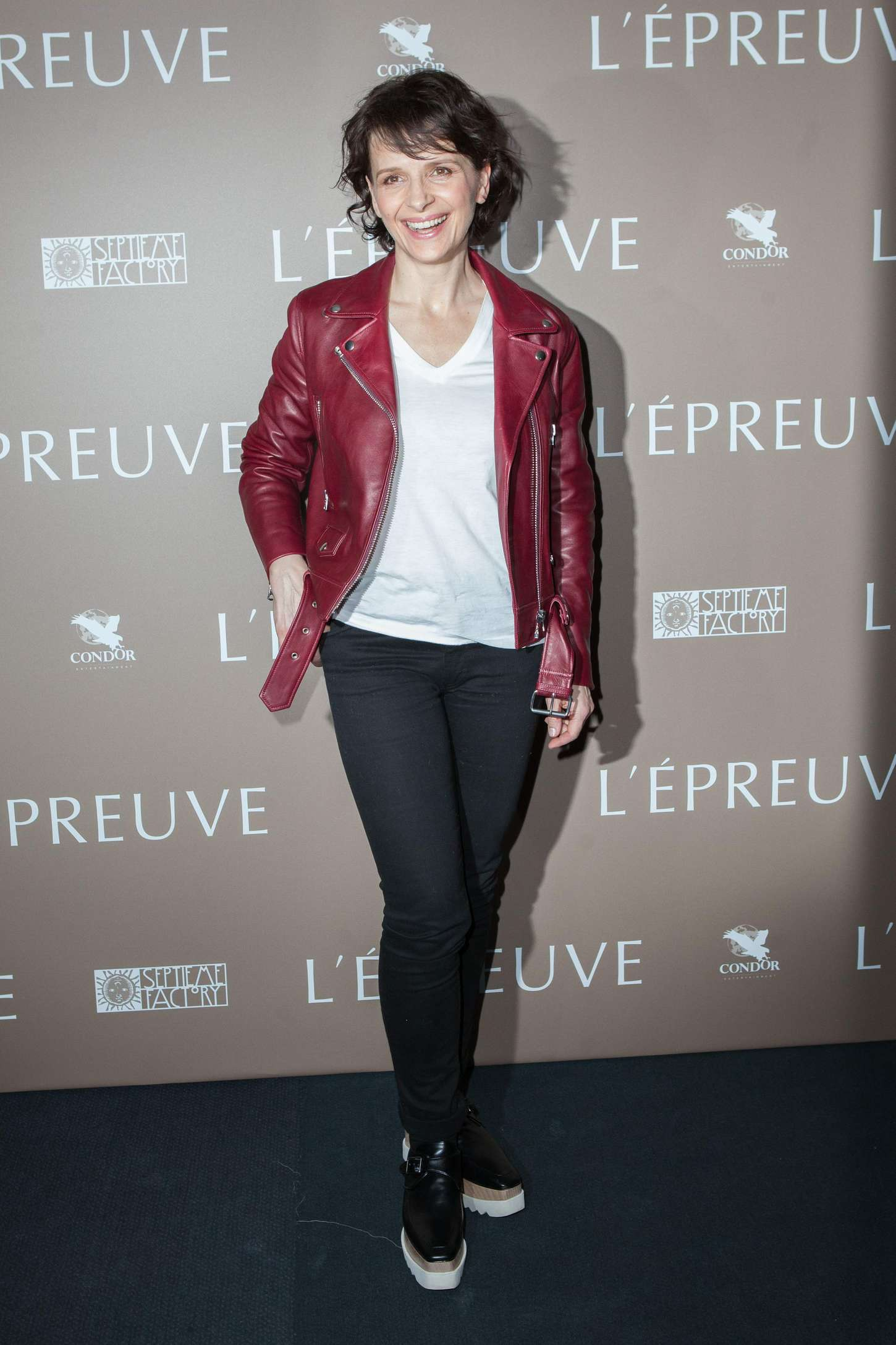 Juliette Binoche LEpreuve Premiere in Paris