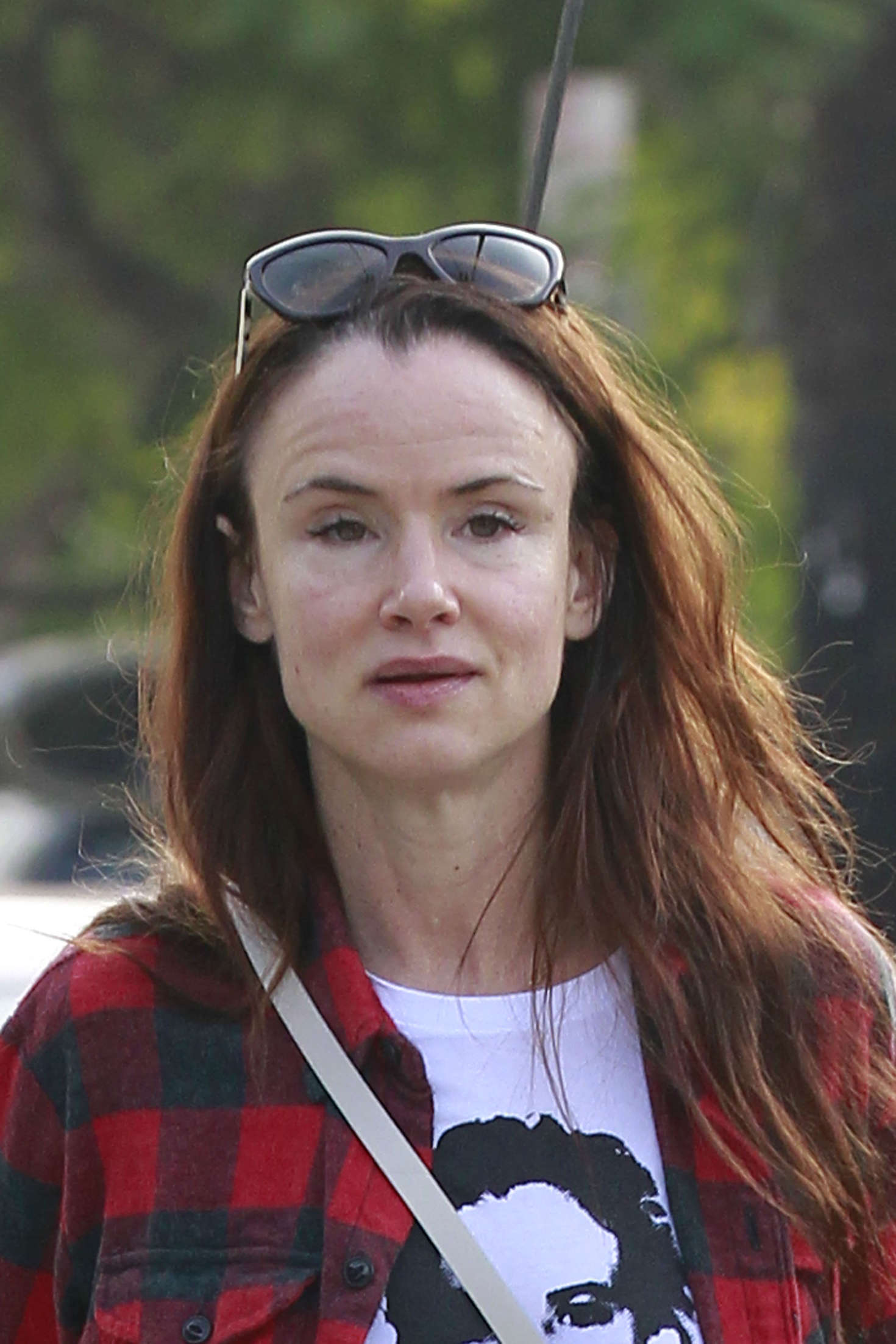 Juliette Lewis Arriving at a hair studio in Los Angeles